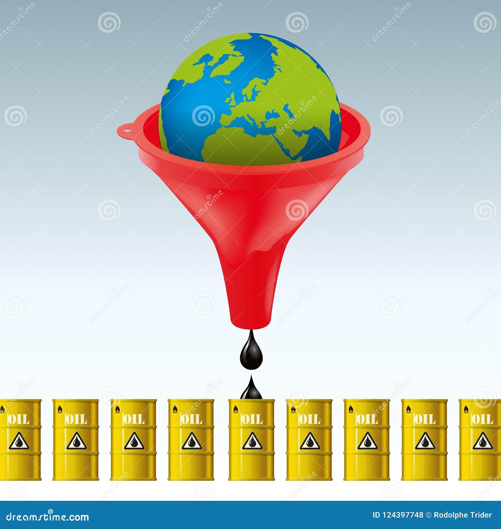 Planet's石油储备的过份开发的概念金融权益的