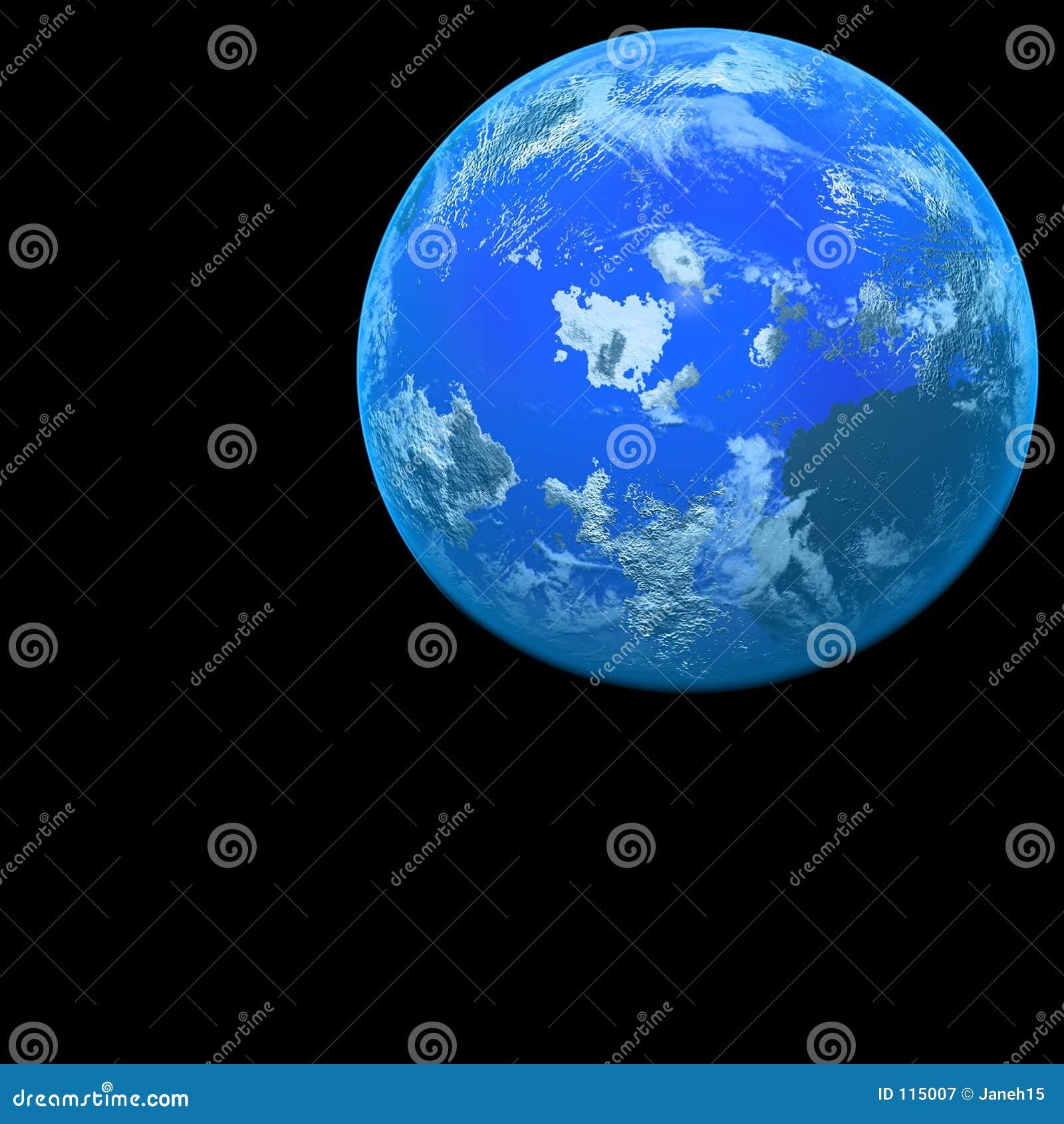 Planet auf Schwarzem