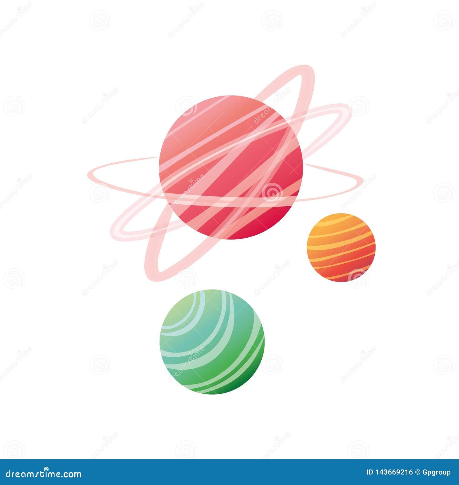 Planet av den solsystem isolerade symbolen