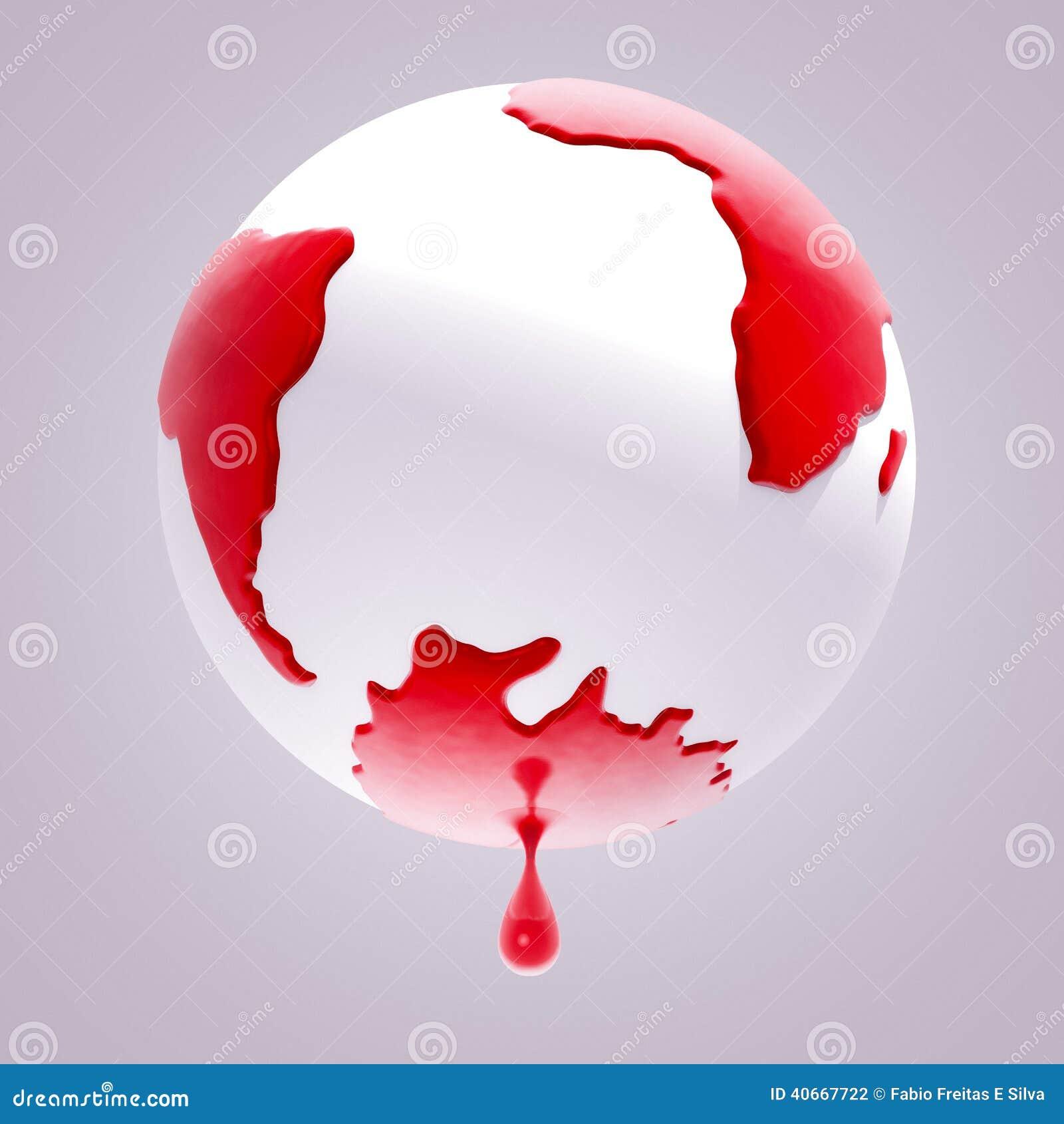planet earth bleeding stock illustration  image of bleeding