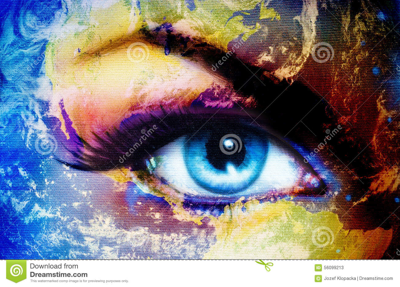 Colorful Eye Painting