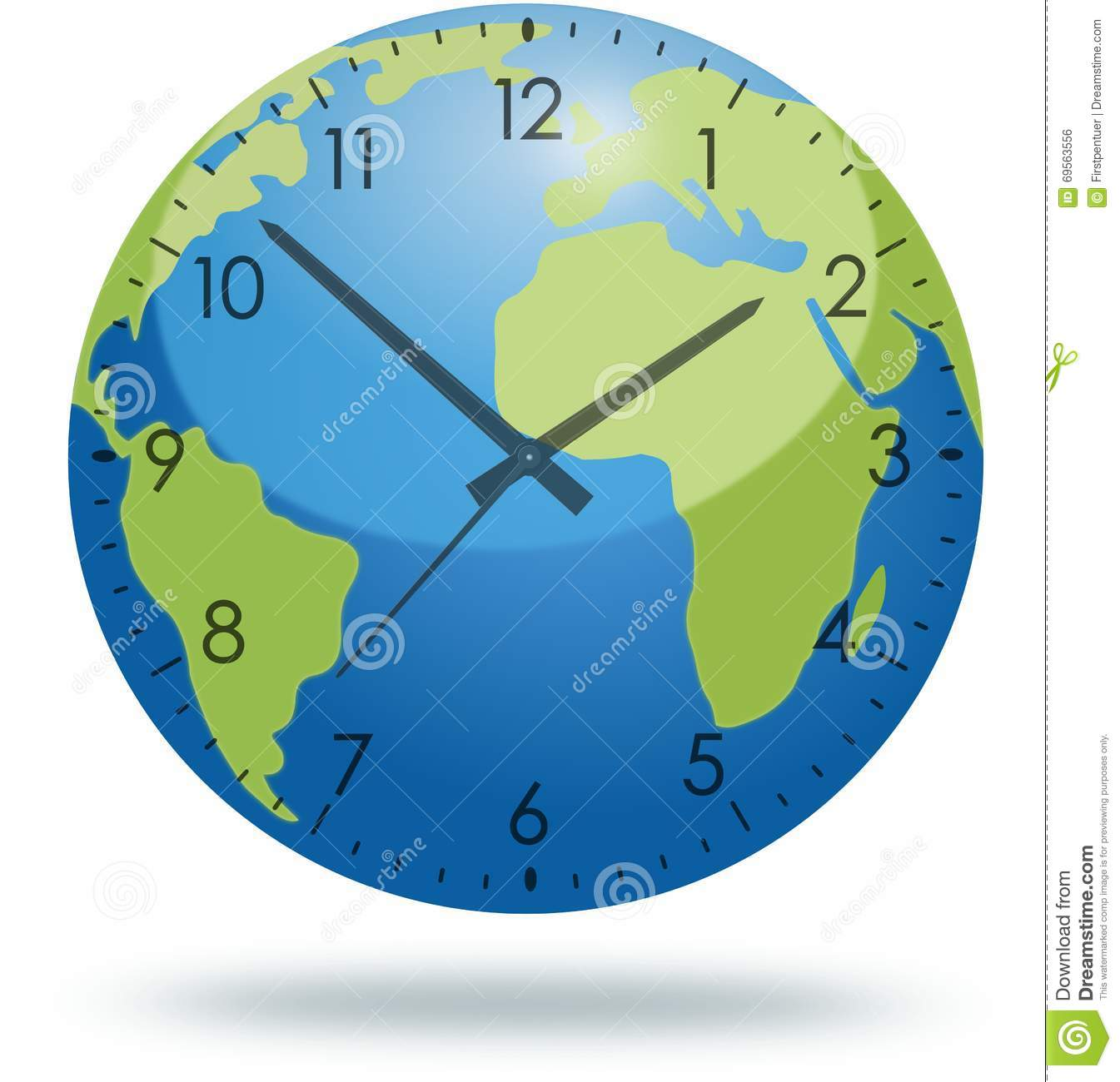 Planet earth with clock face isolated on white stock illustration planet earth with clock face isolated on white gumiabroncs Images