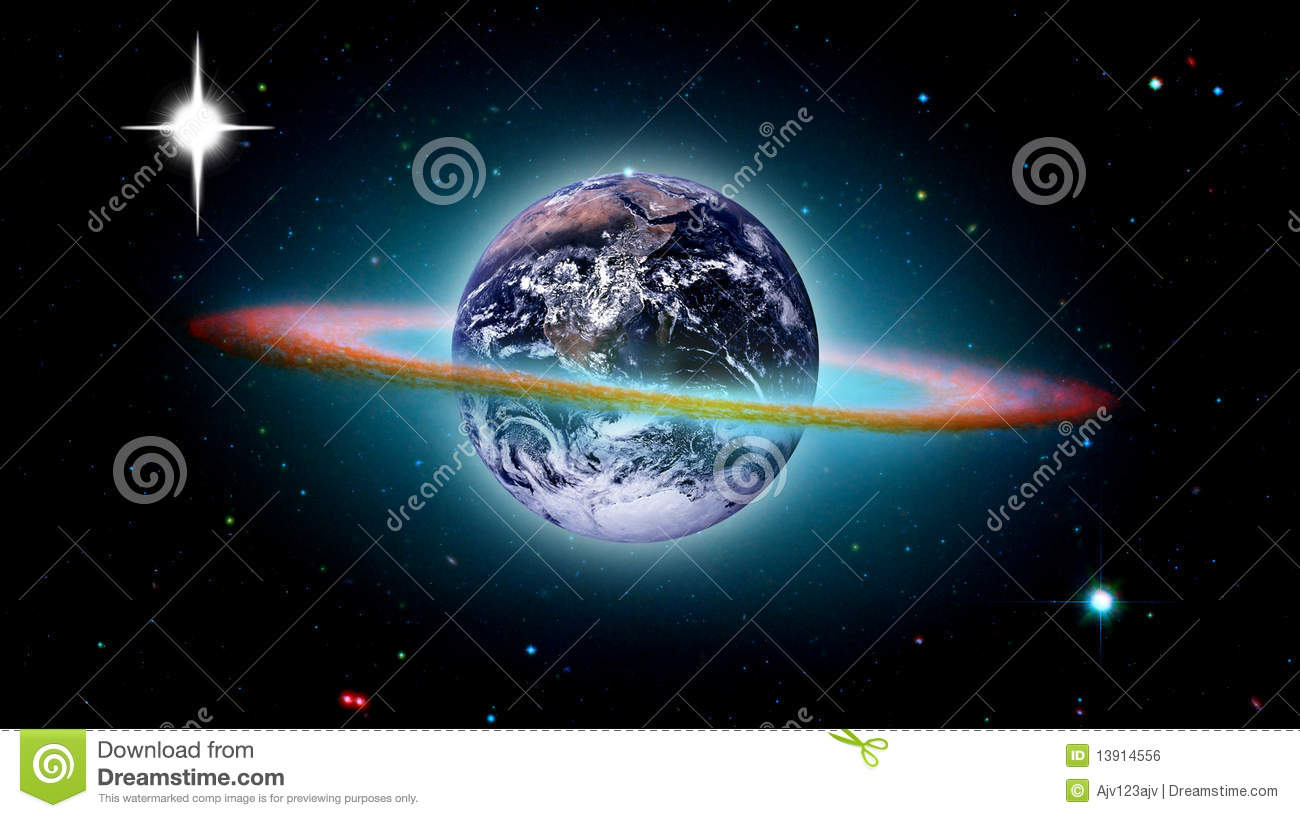 Planet earth creation of the world royalty free stock for Space created