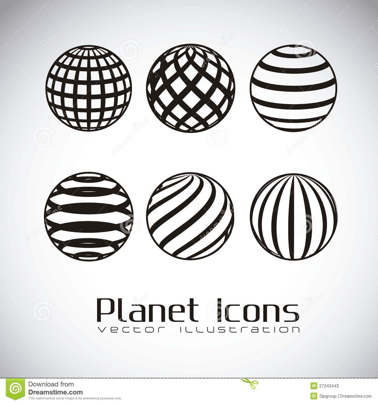 Planet earth icons