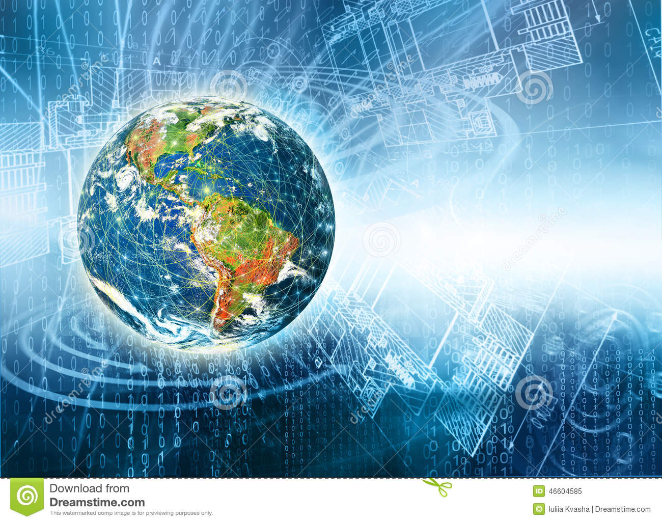 Planet earth and light stock photo image 46604585 for Internet plante