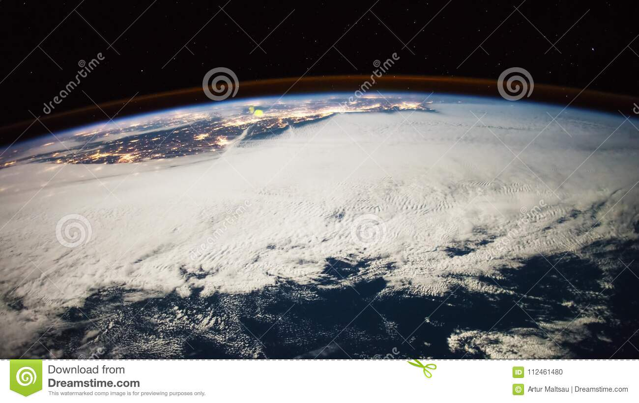 Planet Earth Seen From The ISS Beautiful Observed Space Nasa Time Lapse Shooting Stock Footage