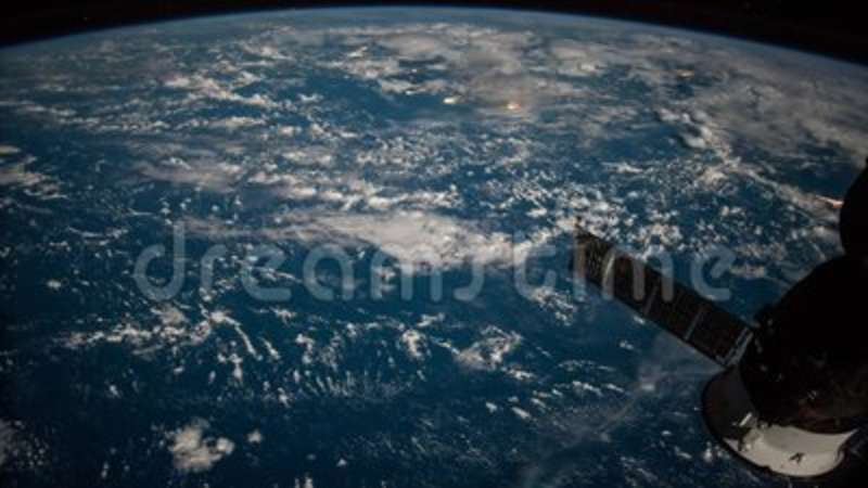 Planet Earth Seen From The ISS Beautiful Observed Space Nasa Time Lapse Shooting Stock Video