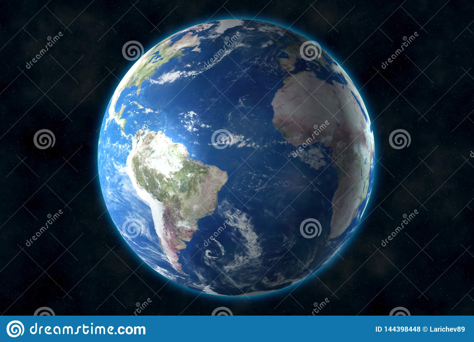 Planet Earth in space. 3D rendering, elements of this image furnished by NASA