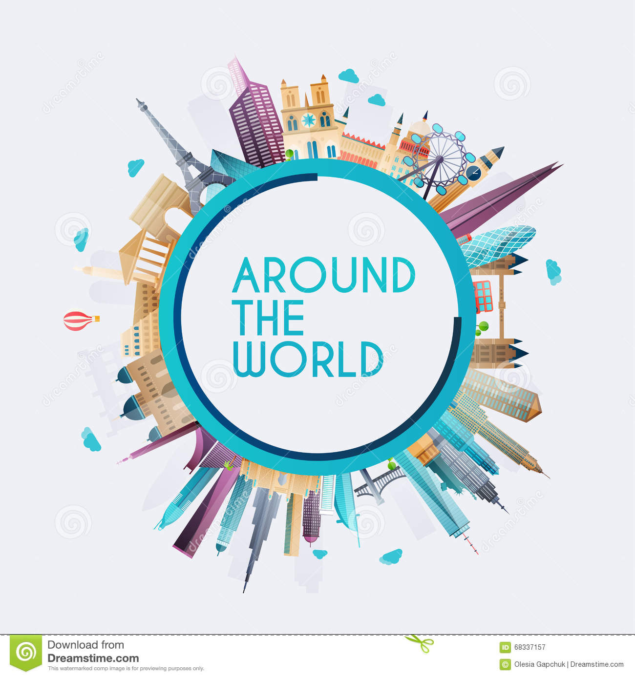 Planet earth travel the world travel stock vector for All inclusive around the world trip