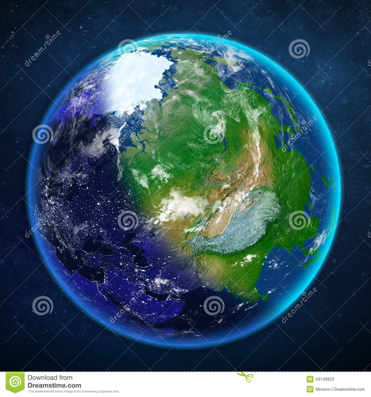 Planet Earth. View From Space. Stock Illustration - Image ...