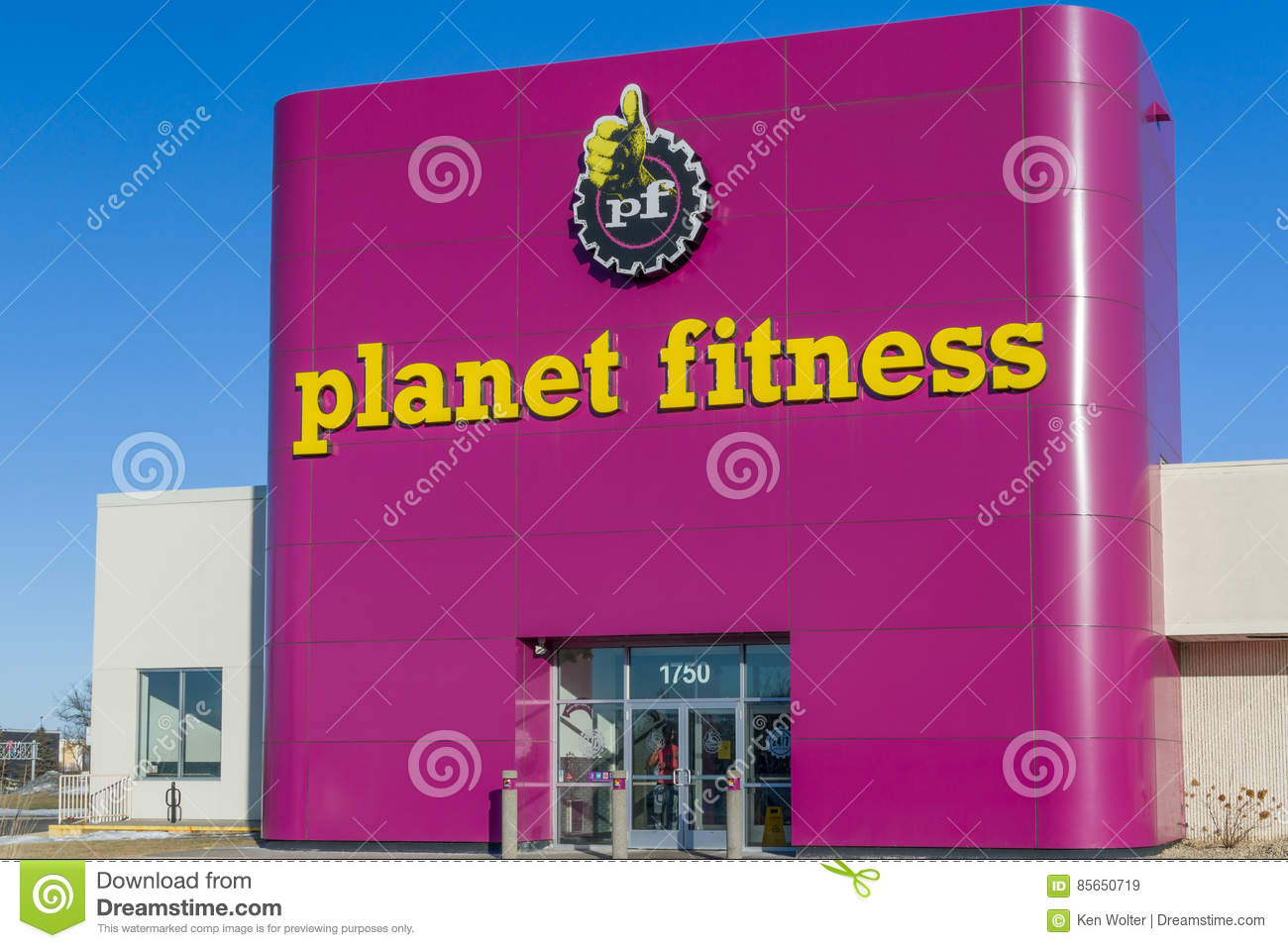 Fitness logo stock photos download 1303 images planet fitness exterior and logo roseville mnusa february 5 2017 buycottarizona Choice Image