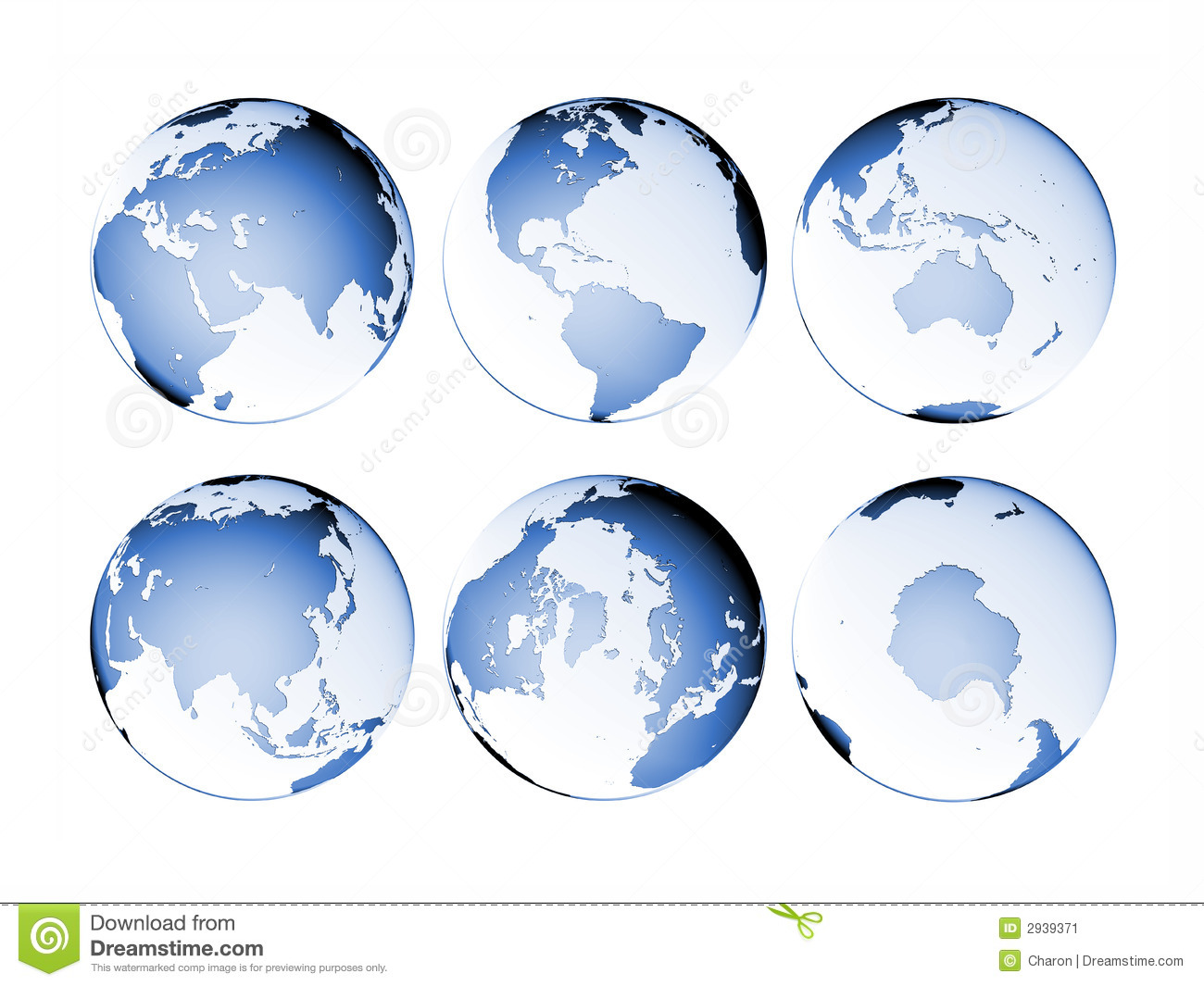 Planet Globe Earth Map Isolated Image Image 2939371 – Globe Maps of the Earth