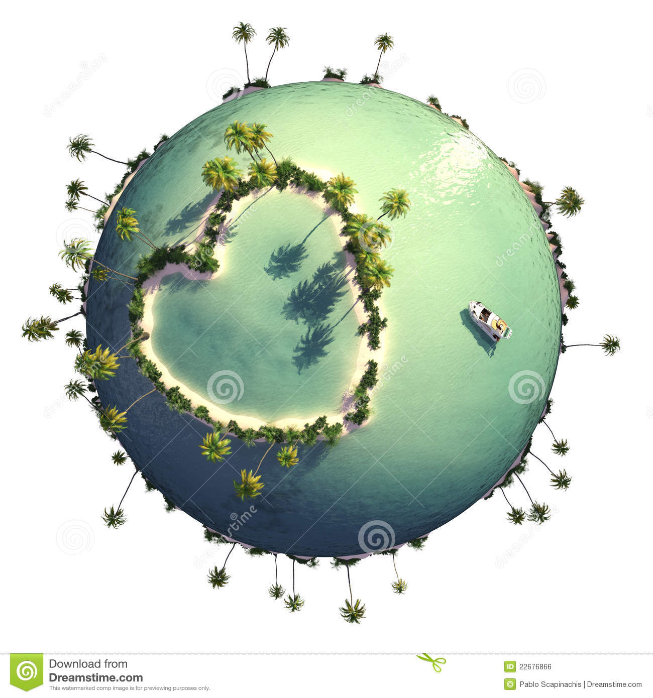 ... With Heart Shaped Island Royalty Free Stock Image - Image: 22676866