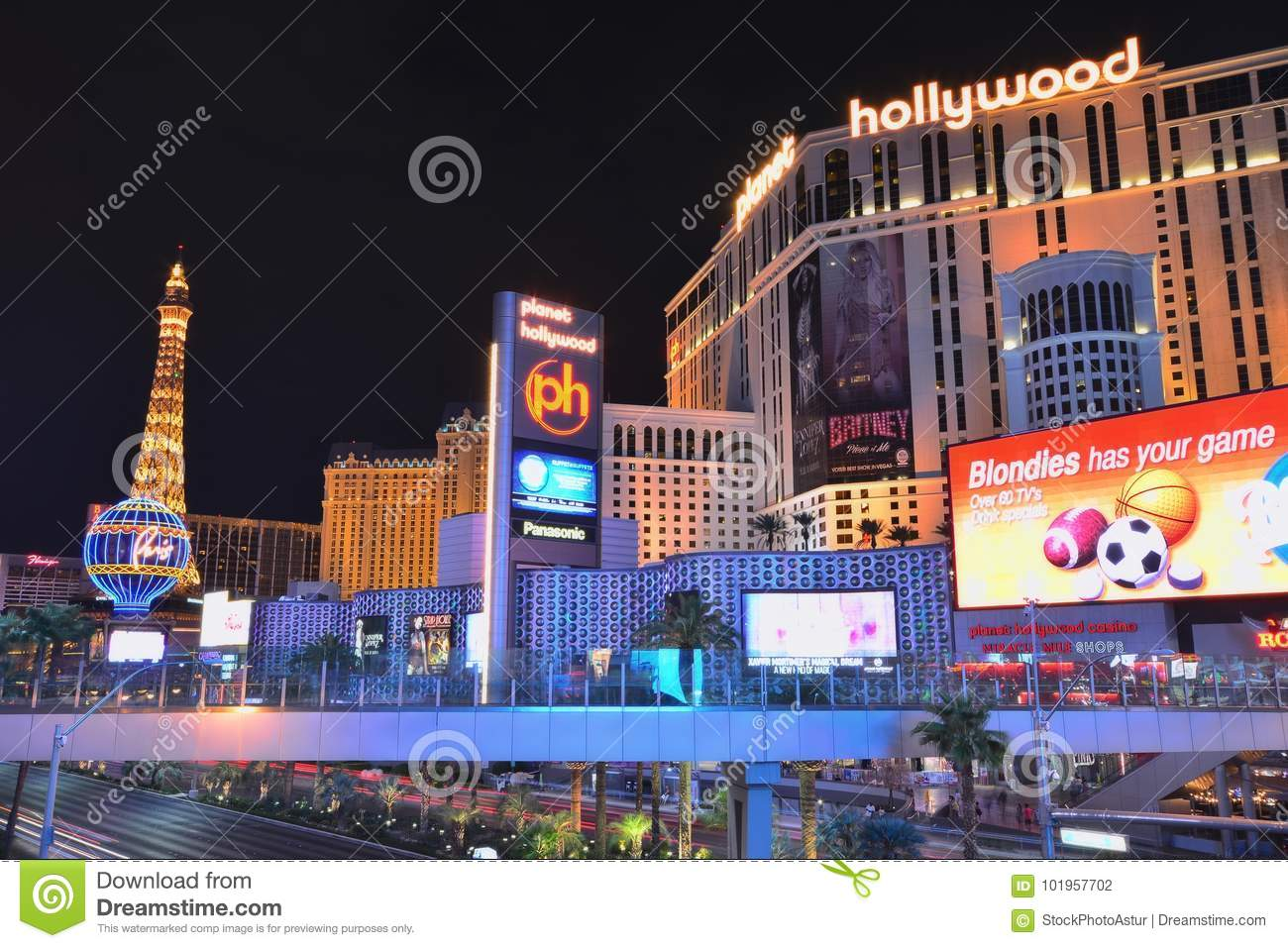 Planet Hollywood Resort And Casino  Editorial Photography