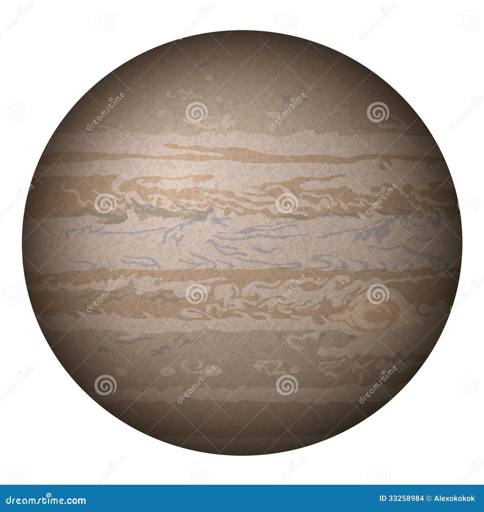 Planet Jupiter Isolated On White Stock Images Image