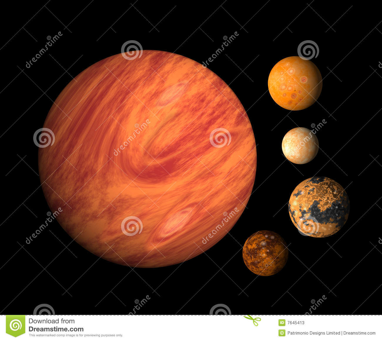 Planet Jupiter And Moons Stock Photos Image 7645413