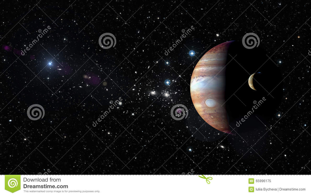 Planet Jupiter In Outer Space. Elements Of This Image ...