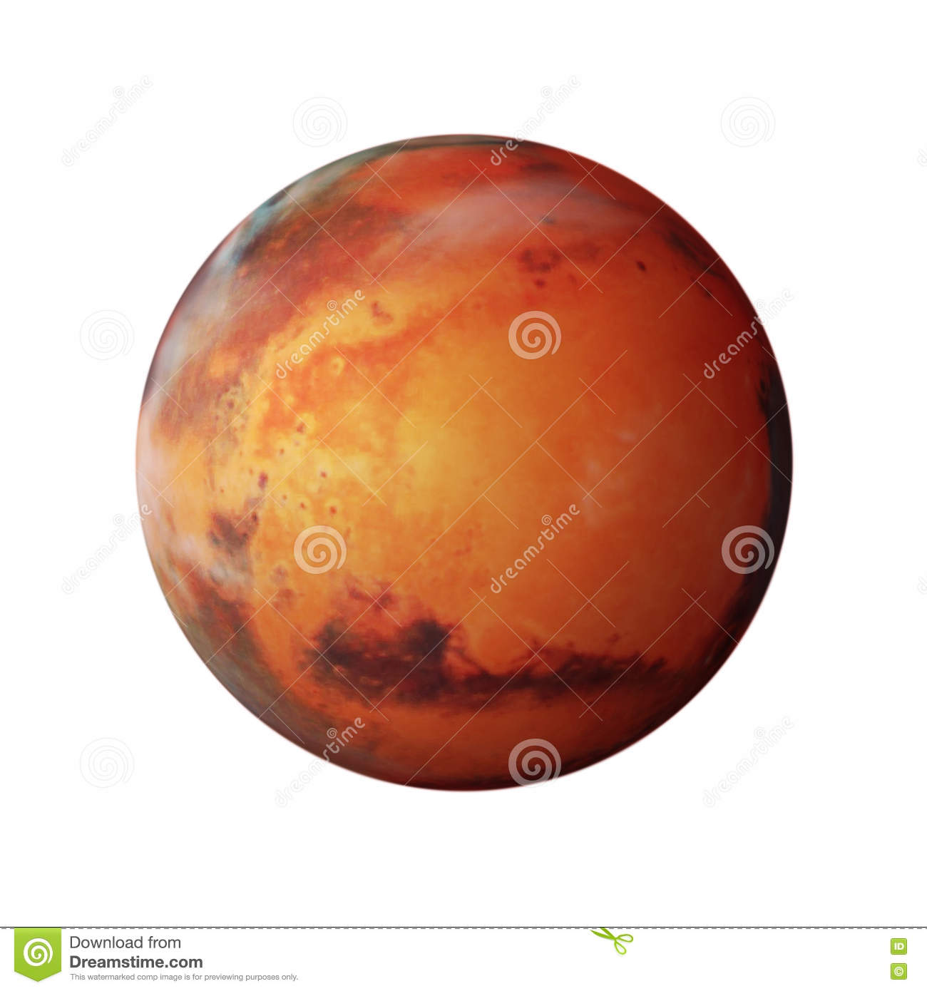 Planet Mars stock illustration. Image of space, orbit ...