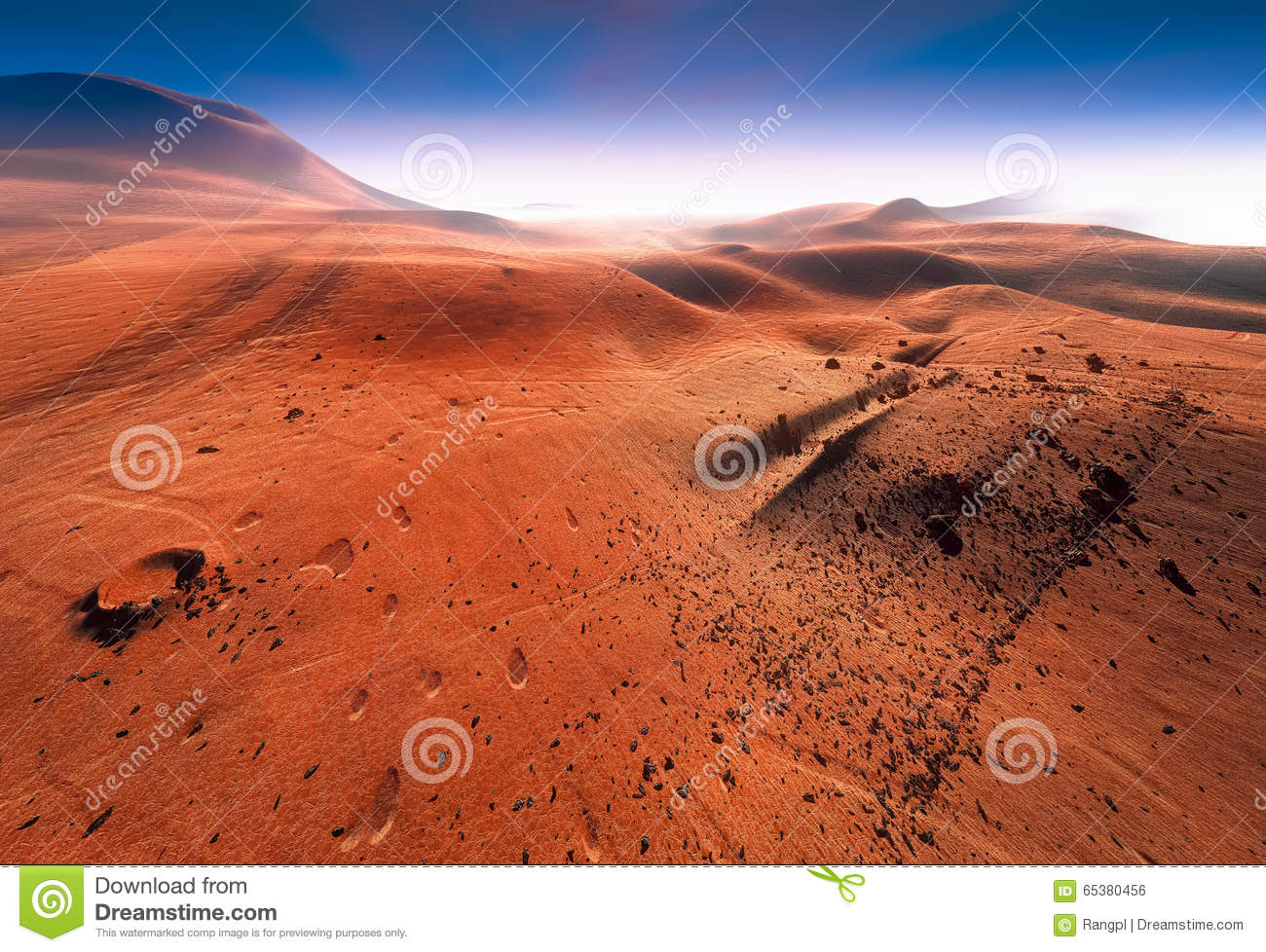 Planet Mars Stock Illustration - Image: 65380456