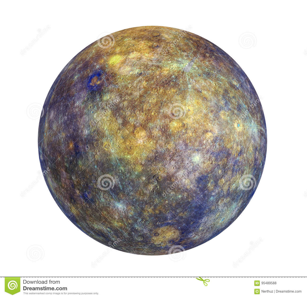 Planet Mercury Isolated