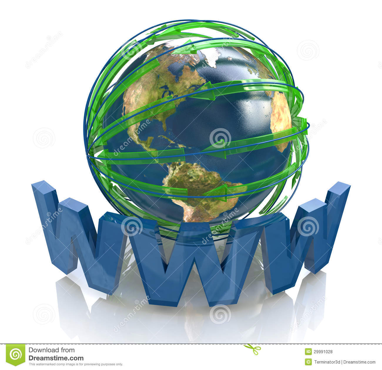 Planet and network in the direction royalty free stock for Internet plante