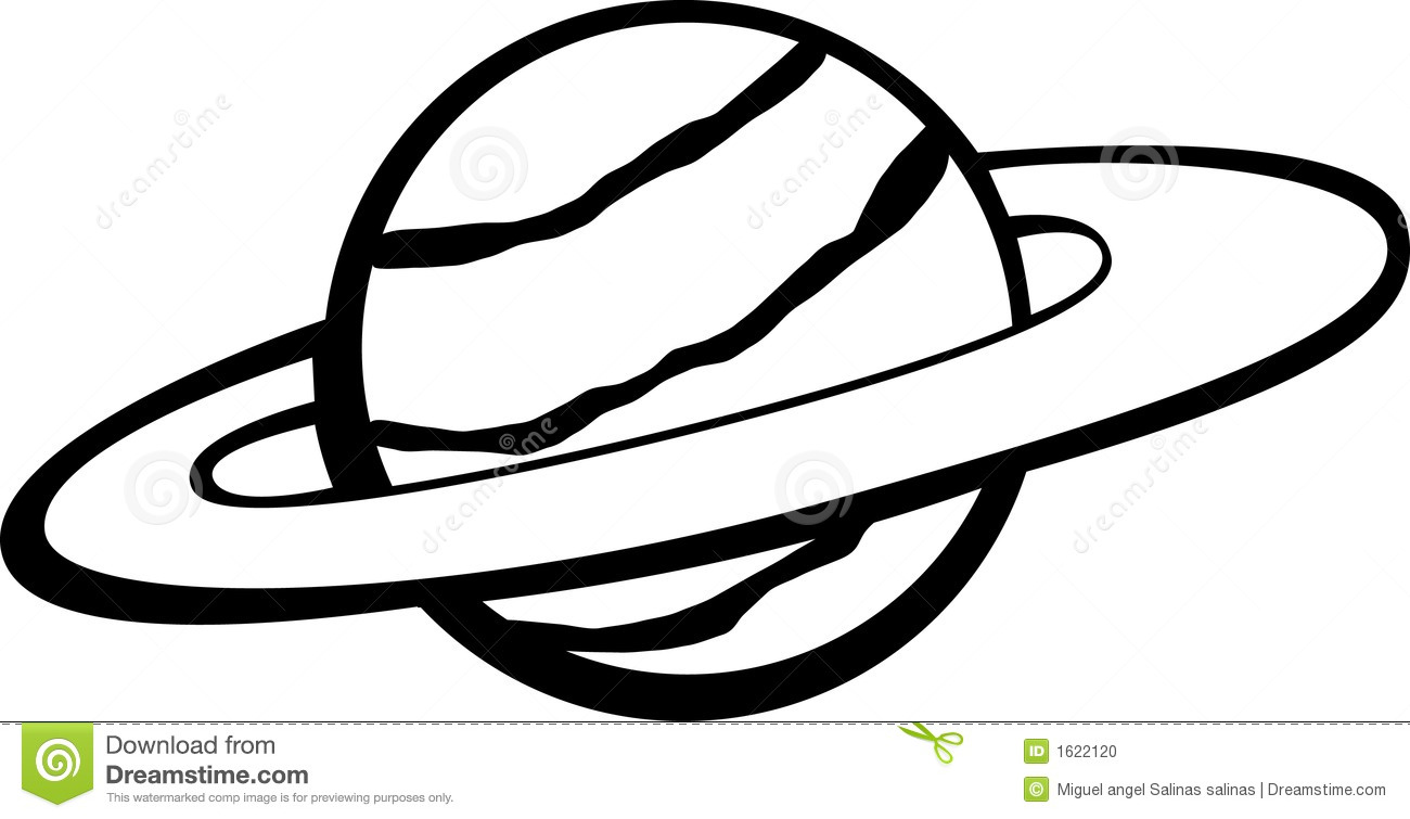 Planet With Ring Vector Illustration Stock Photo Image 1622120