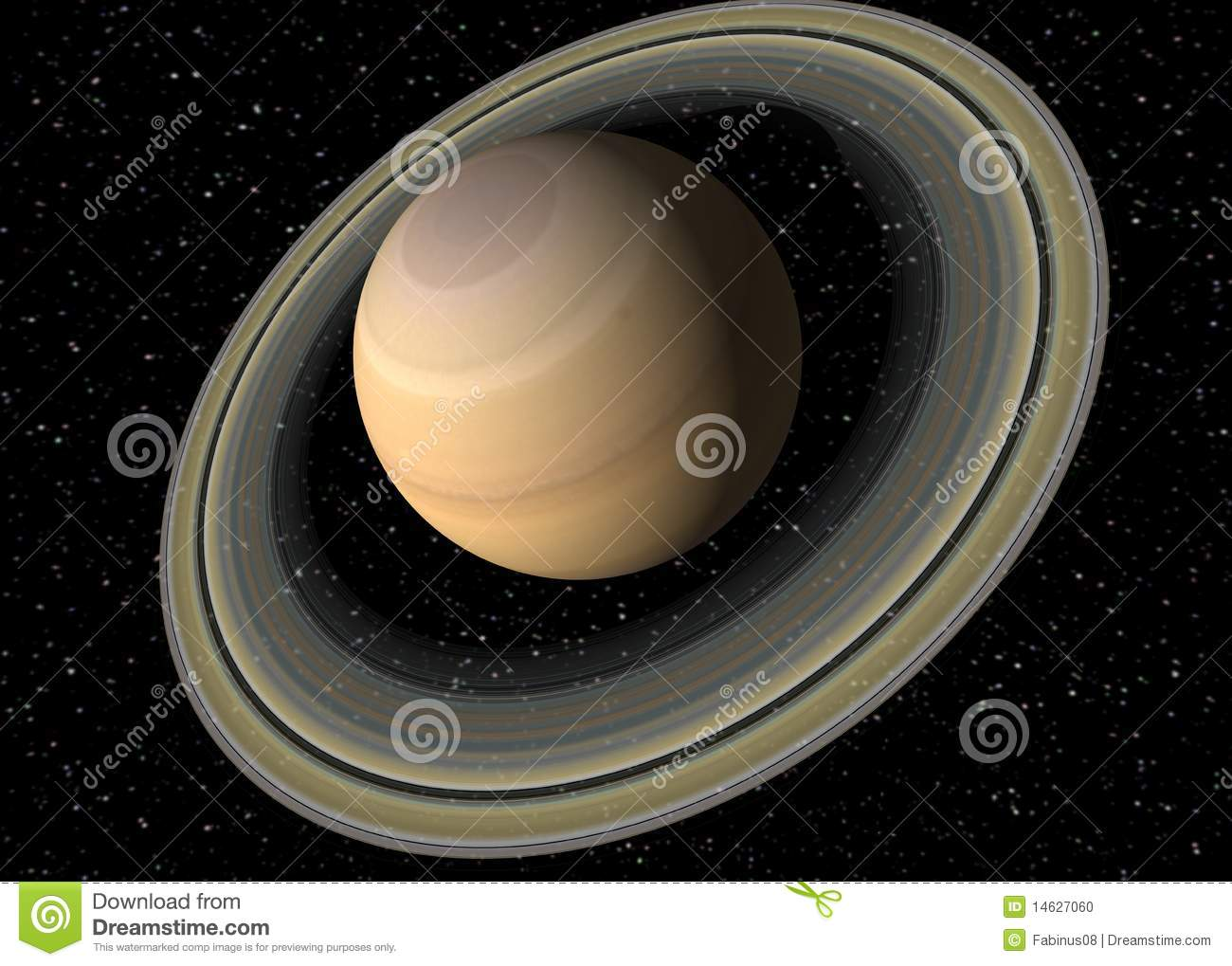stock photo  planet saturn  image  14627060