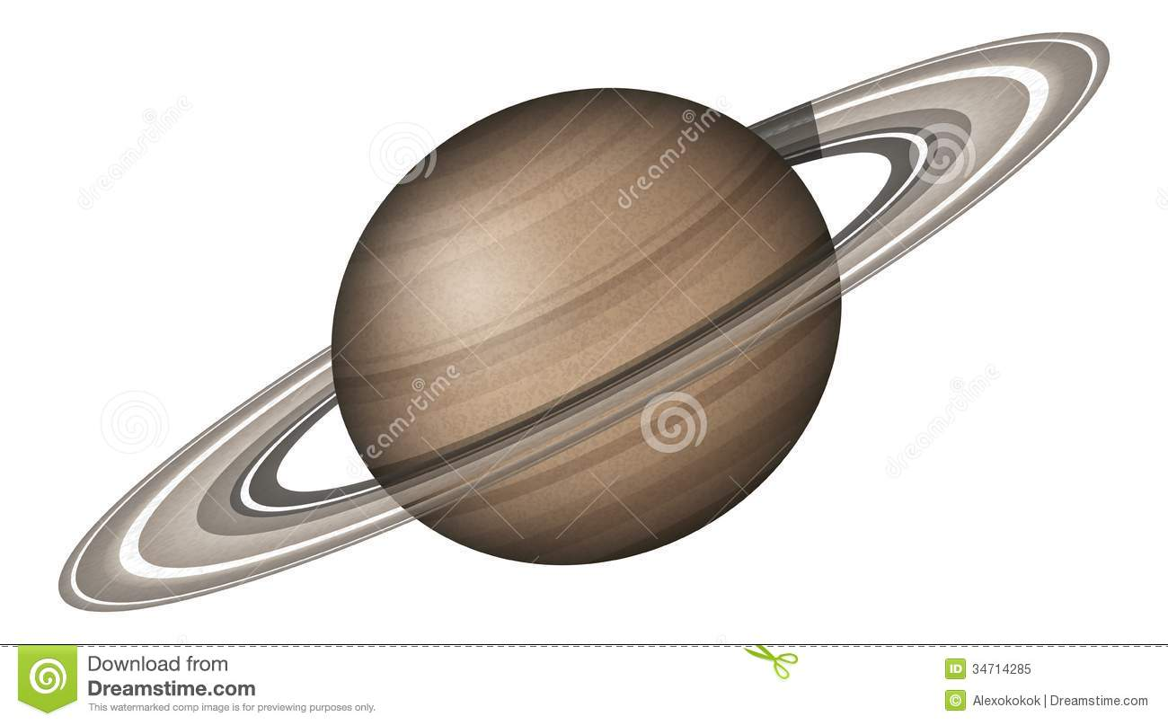 Realistic planet Saturn isolated on white background. Elements of this ...