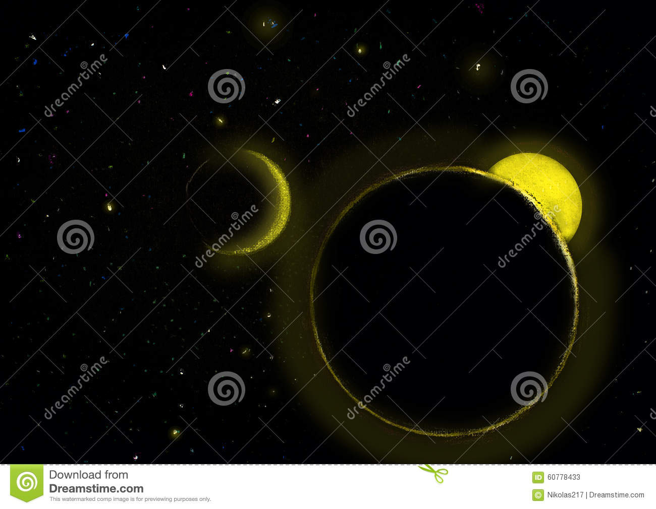 starry sky with planets - photo #10