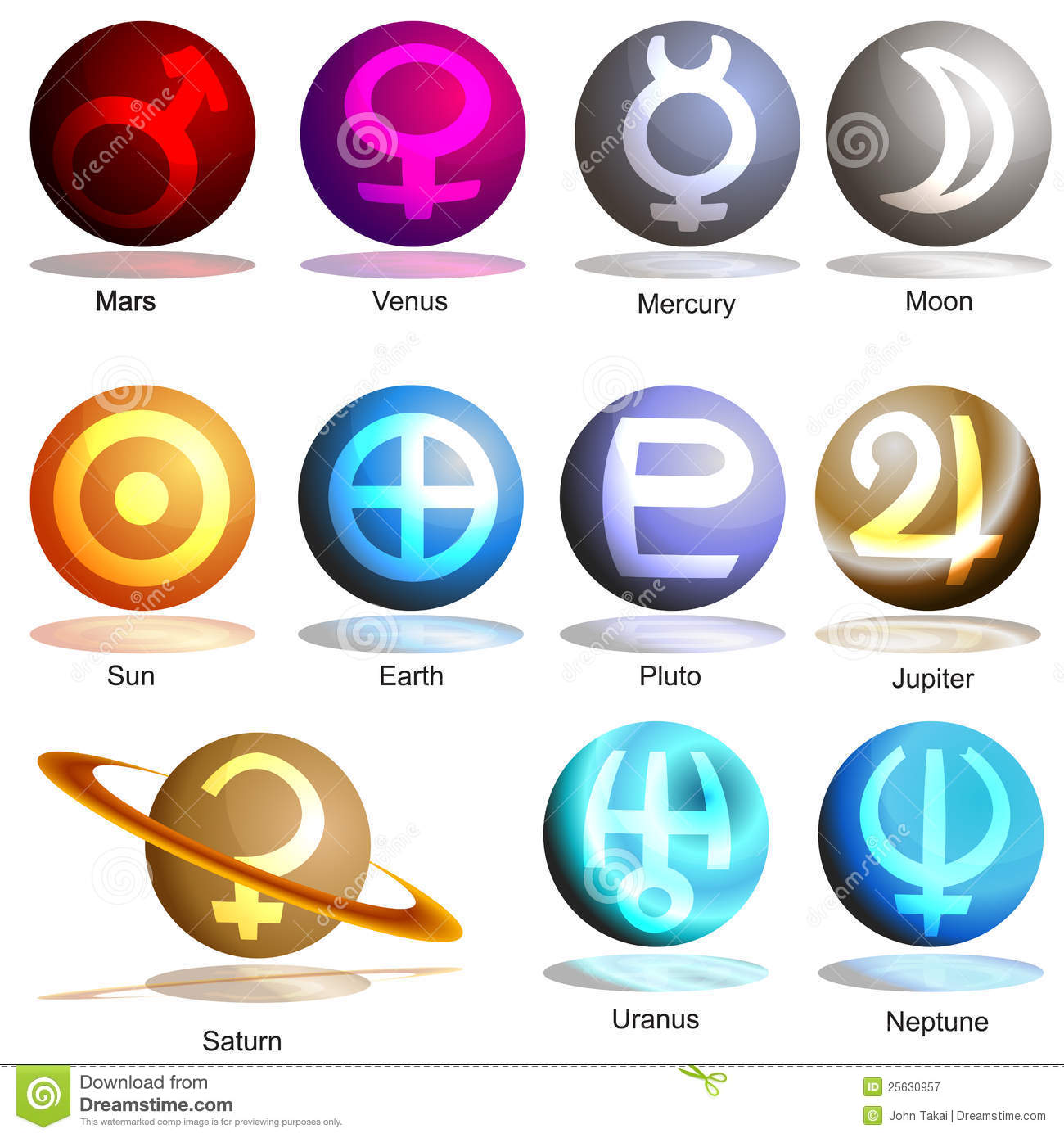 Symbols of planets image collections symbol and sign ideas planet symbol 3d set stock vector illustration of design 25630957 planet symbol 3d set buycottarizona image biocorpaavc Images