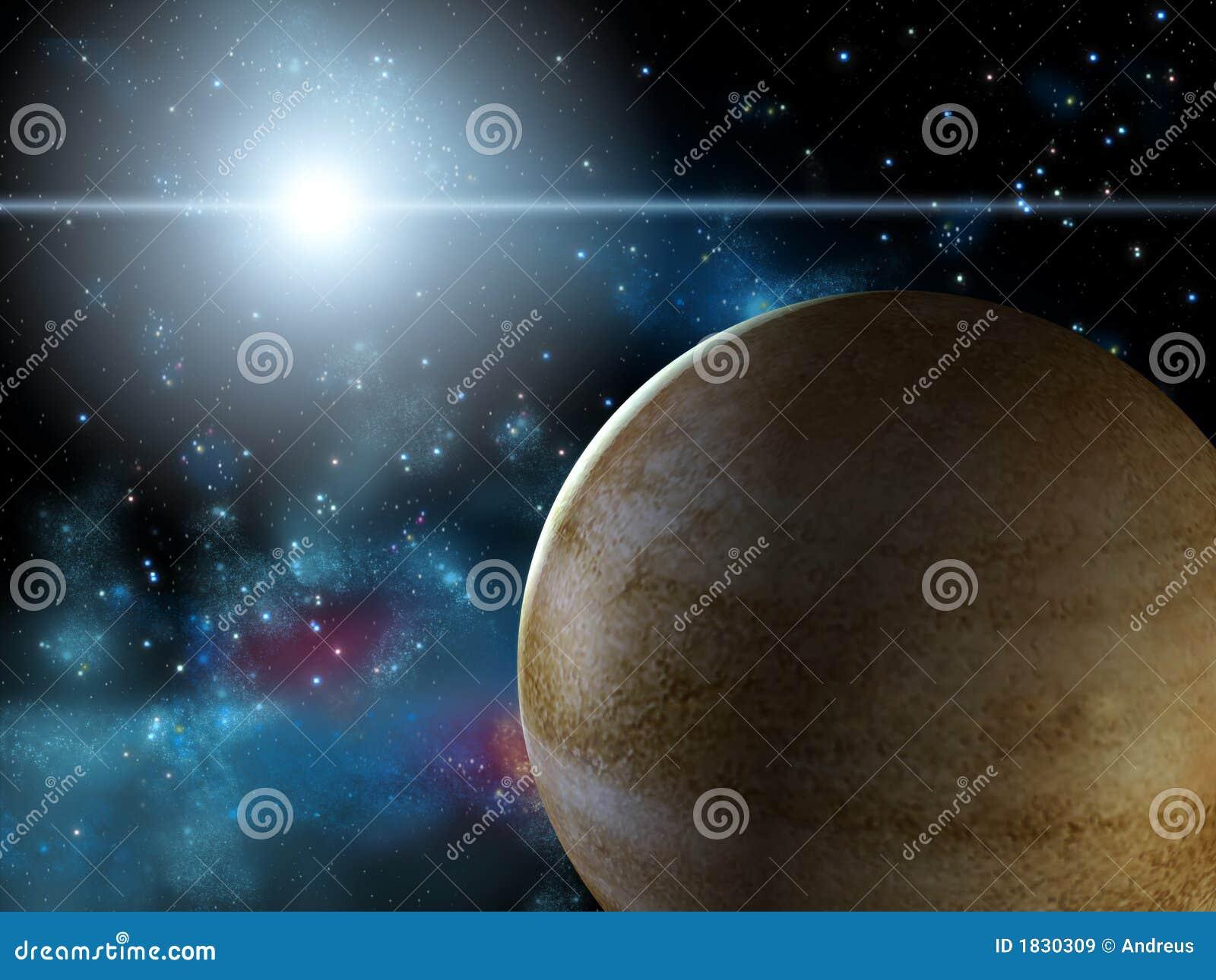 Planet und Stern