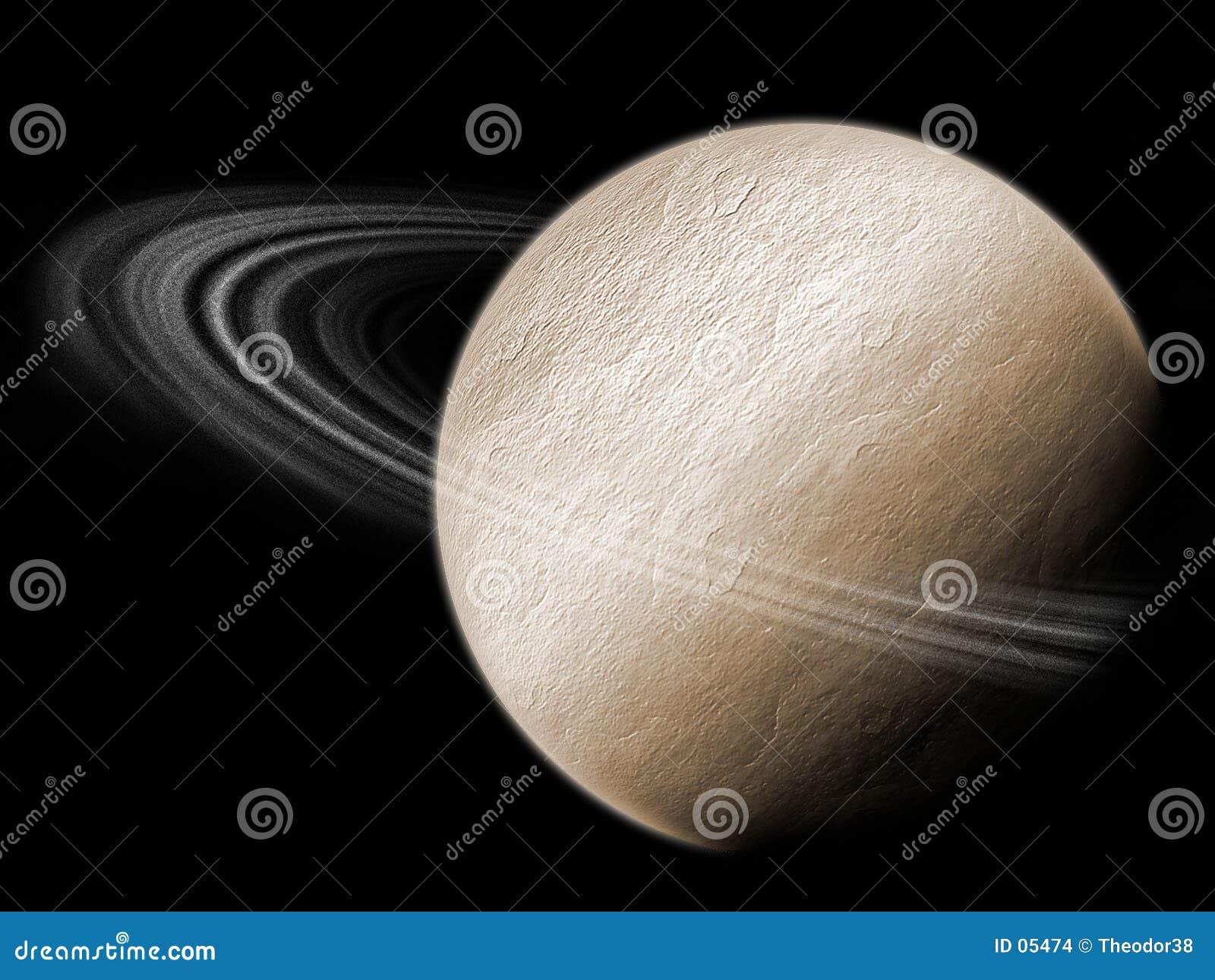 Planeta con los anillos