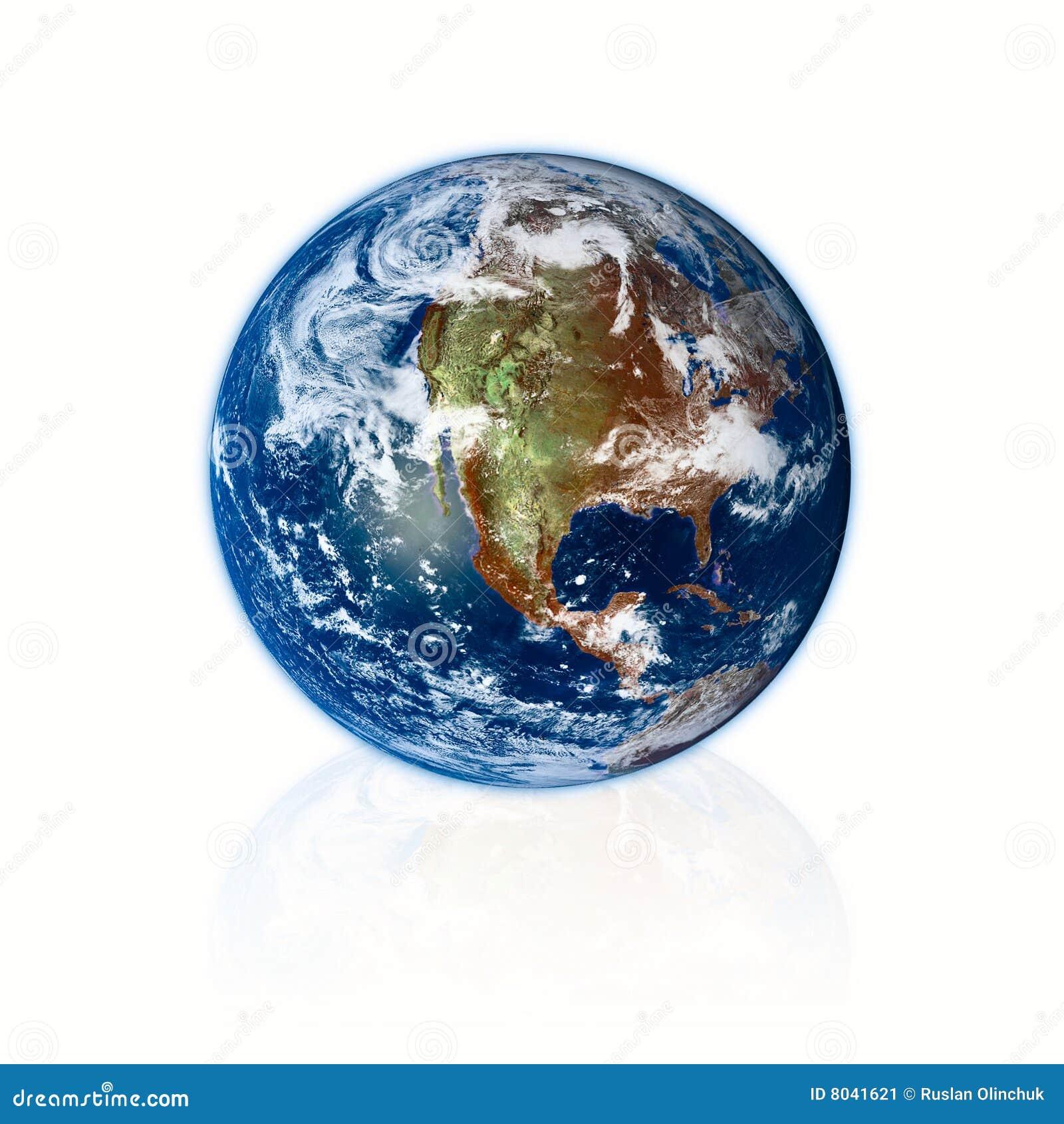 Planeta de la tierra 3d