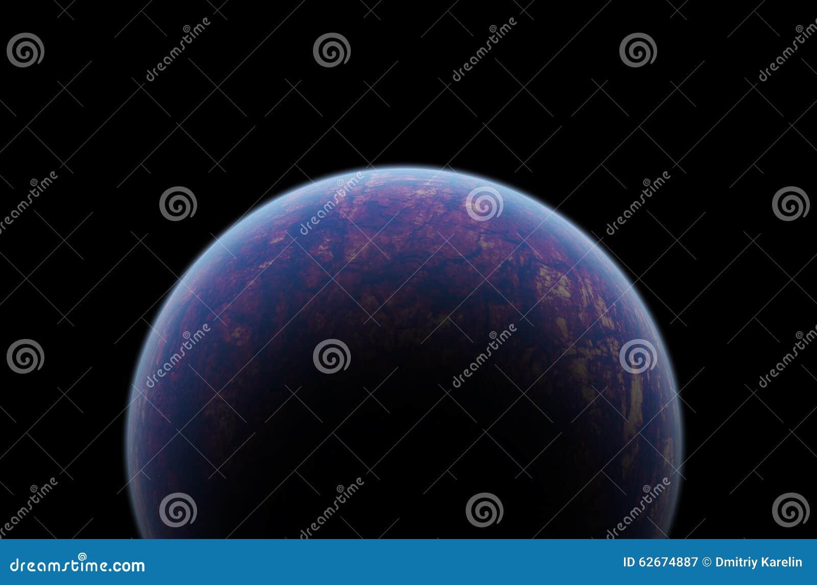 Planeta en espacio