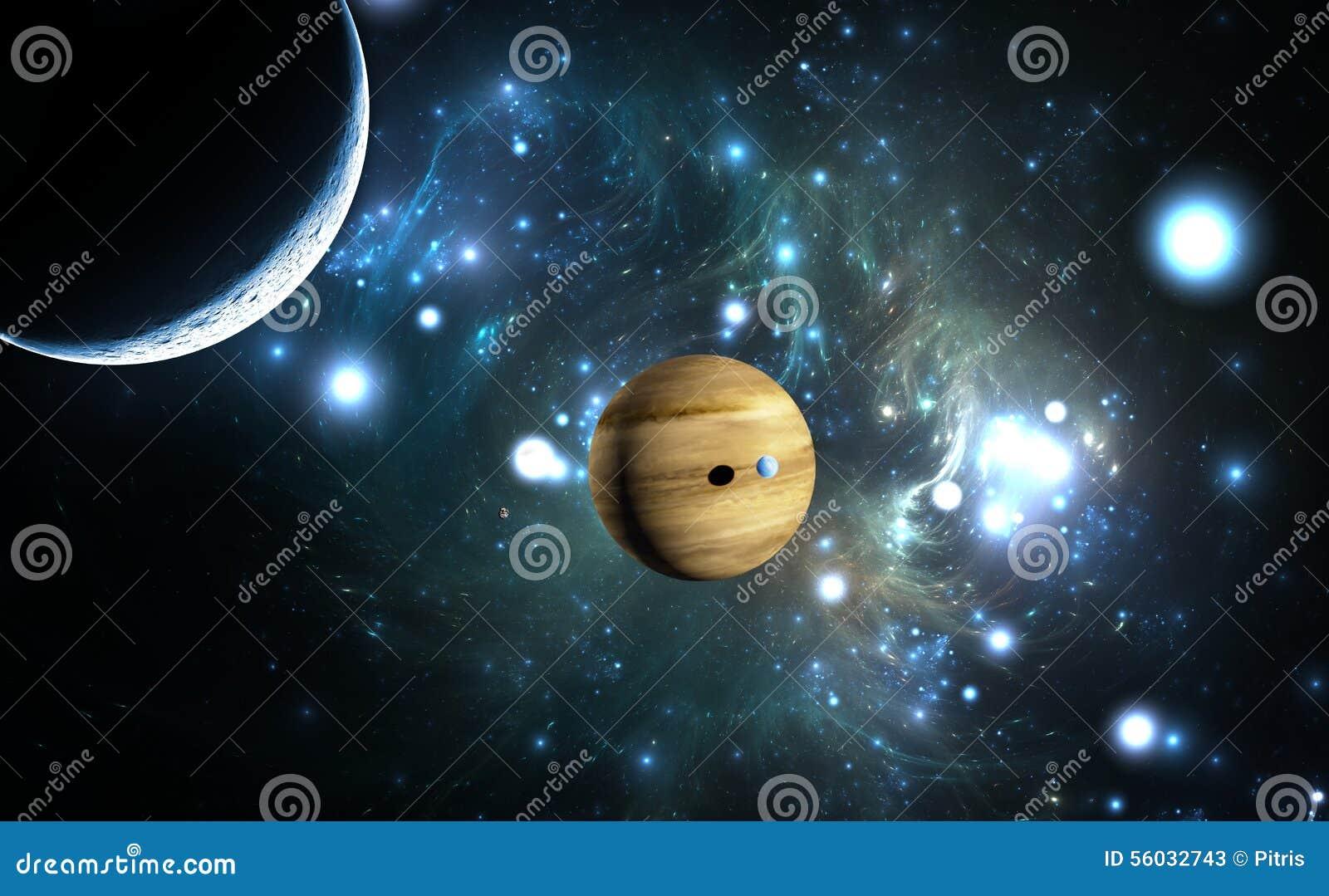 Planeta Extrasolar Gigante de gás com luas