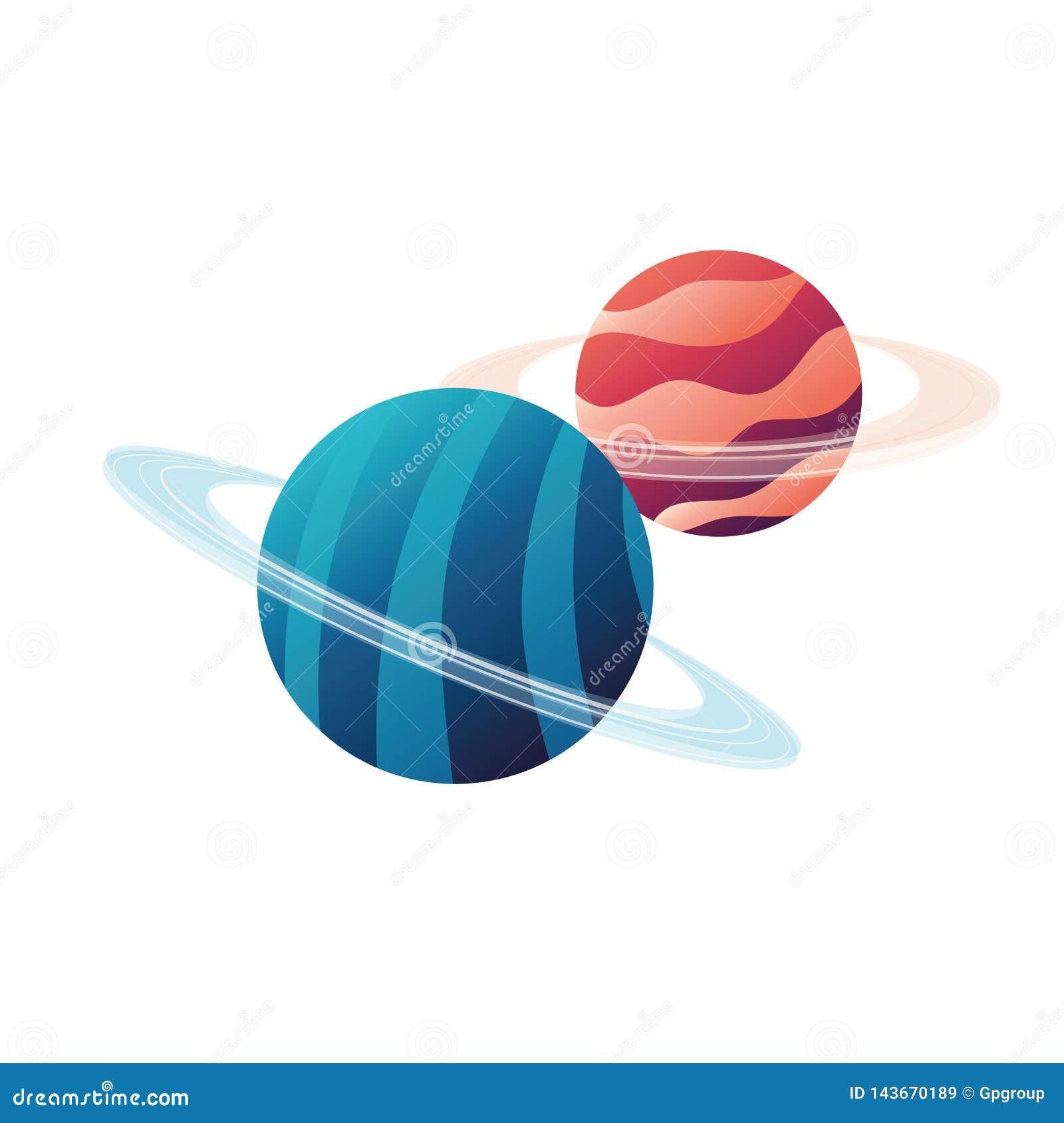 Planeta układ słoneczny odosobniona ikona