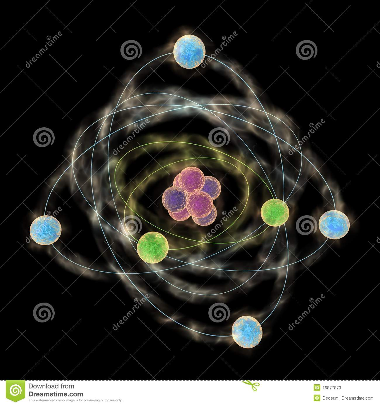 Planetary Model Of Atom Stock Photos Image 16877873