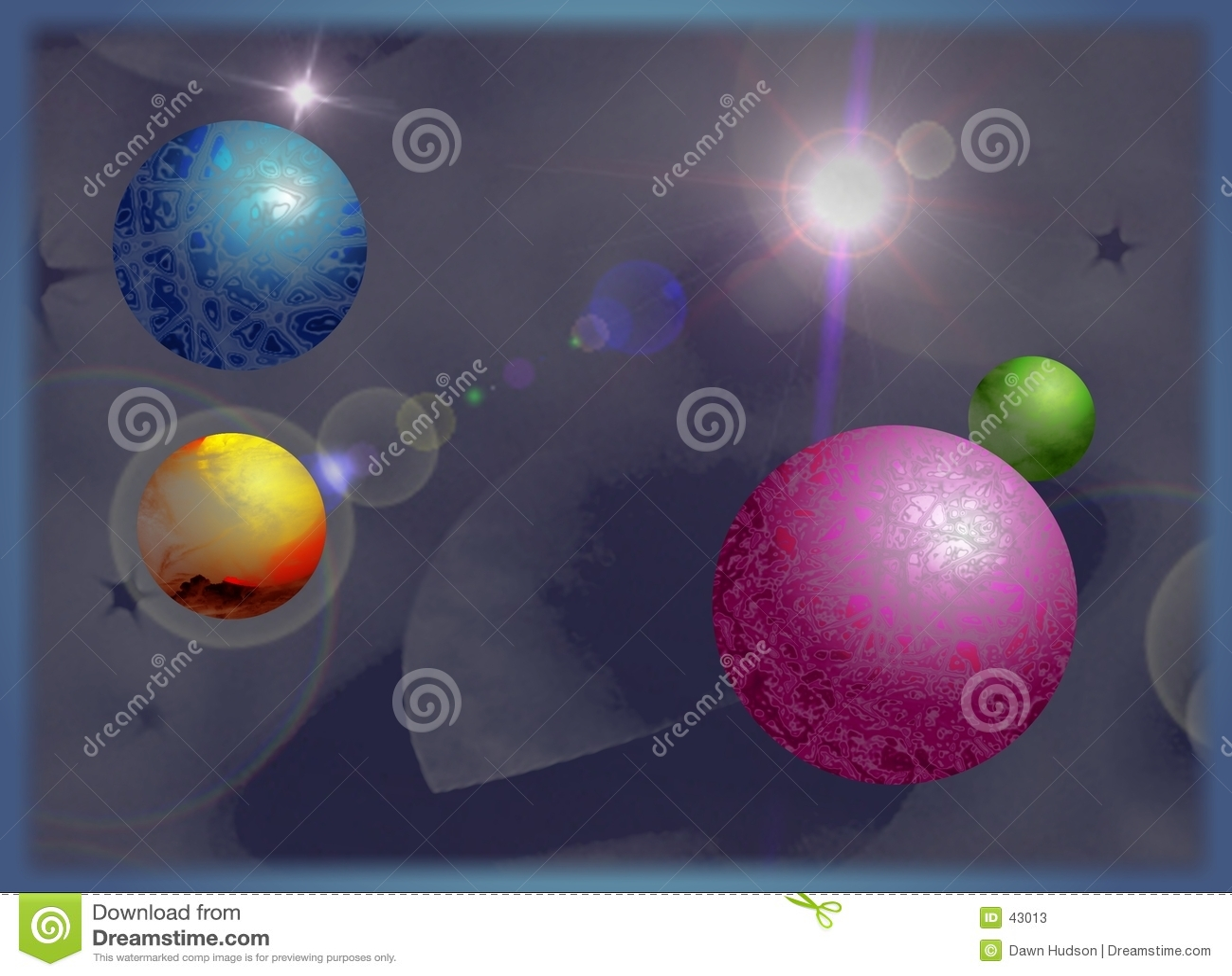 Download Planetas stock de ilustración. Ilustración de universo, planetas - 43013