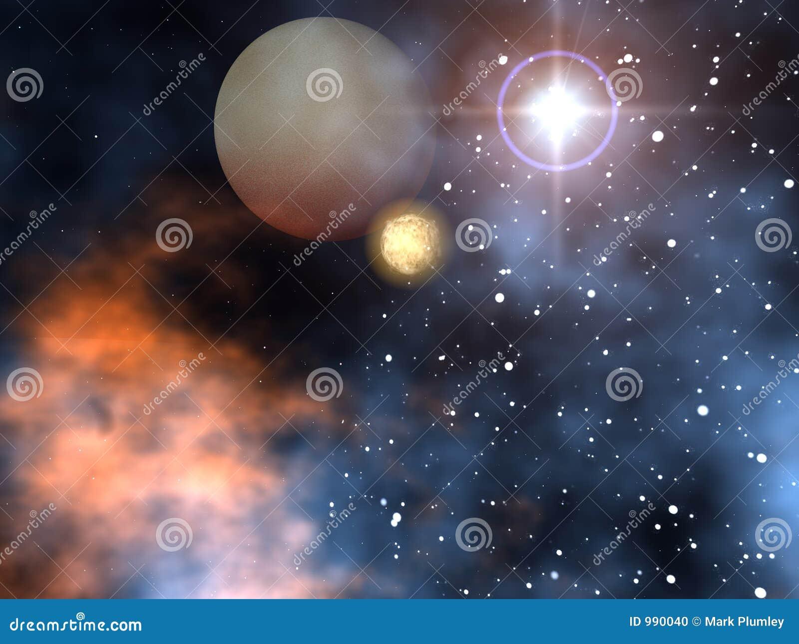Planetas do espaço