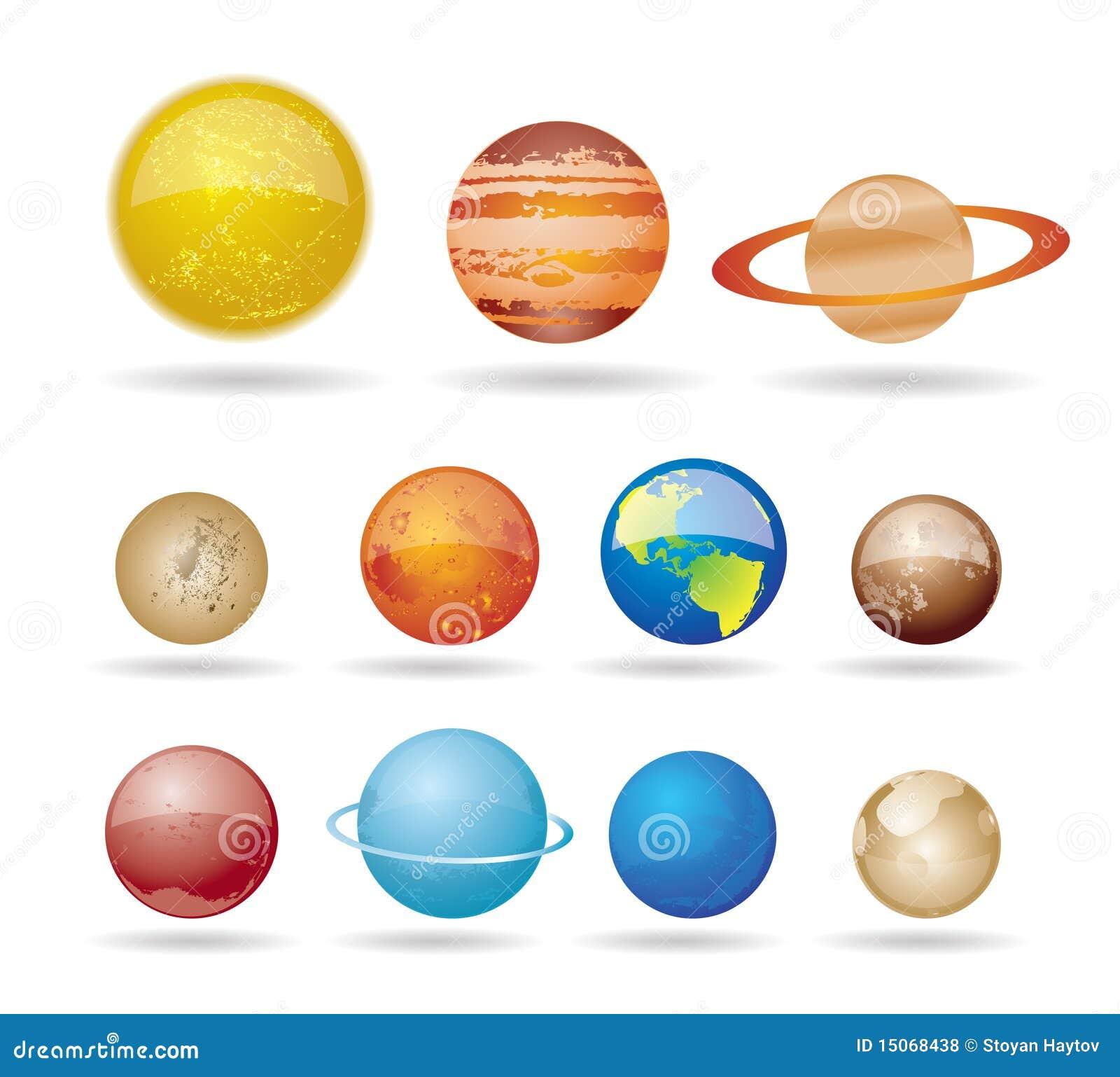 Planetas E Sol De Nosso Sistema Solar Fotos de Stock ...