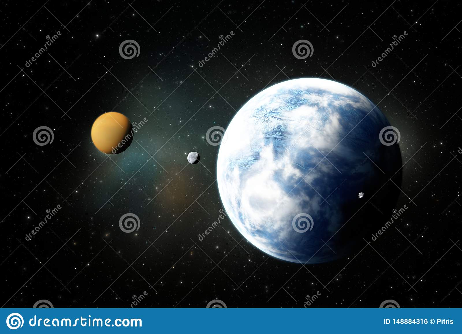 Planetas rochosos, Exoplanets ou planetas Extrasolar do espa?o profundo