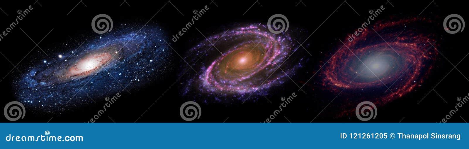 Planeten en melkweg, science fictionbehang