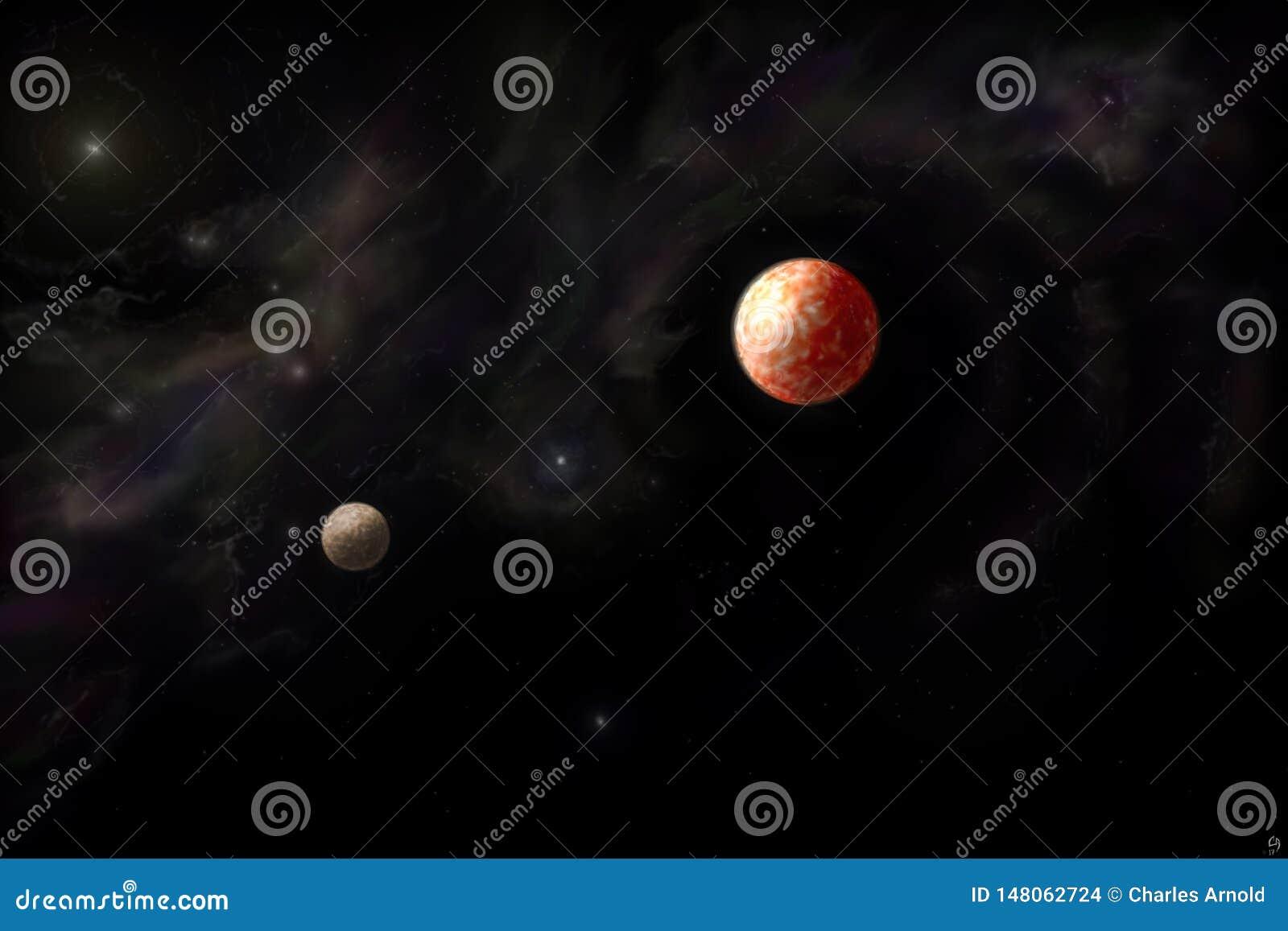 Planeten en nevel