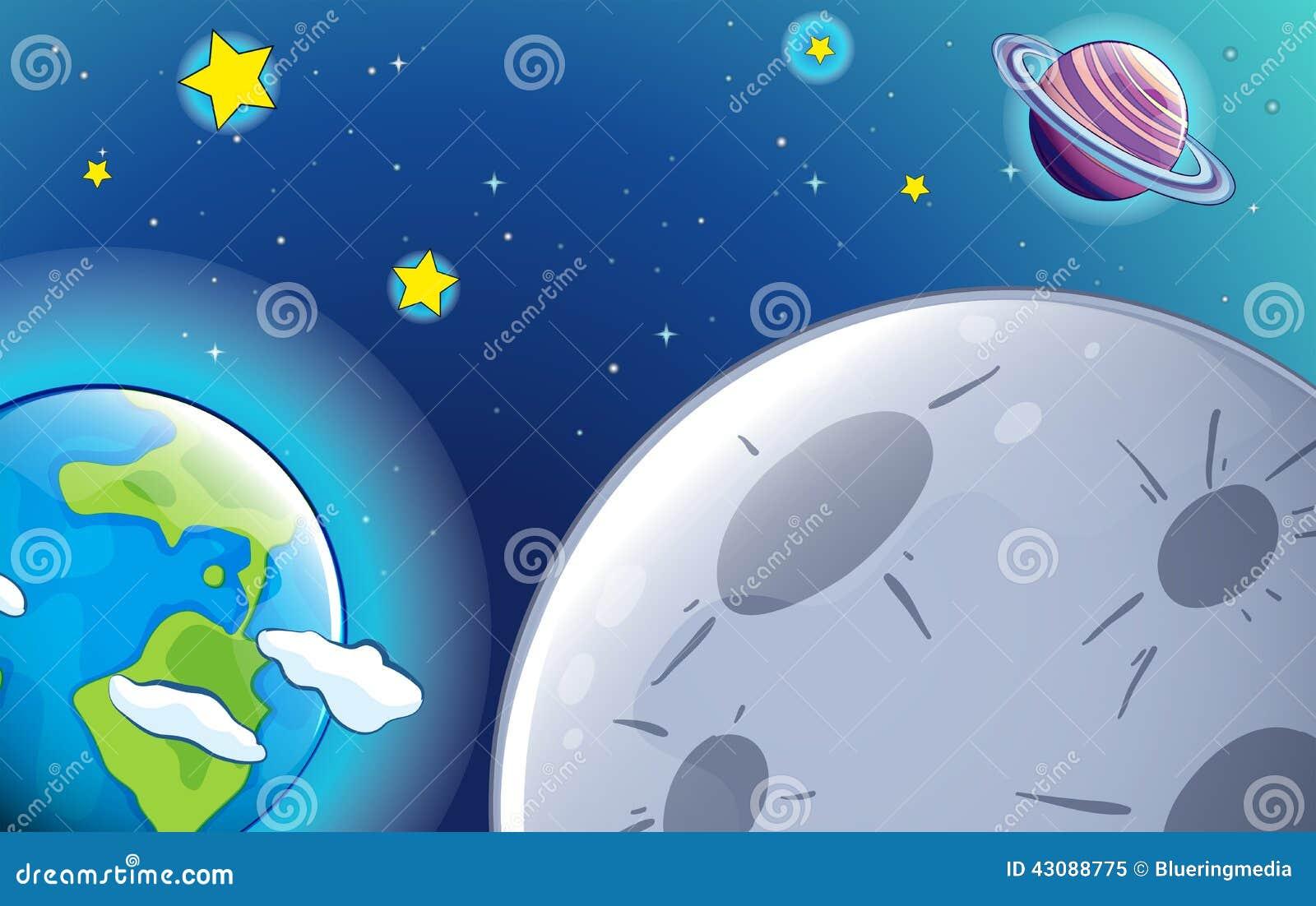 Planeten en starss in de hemel