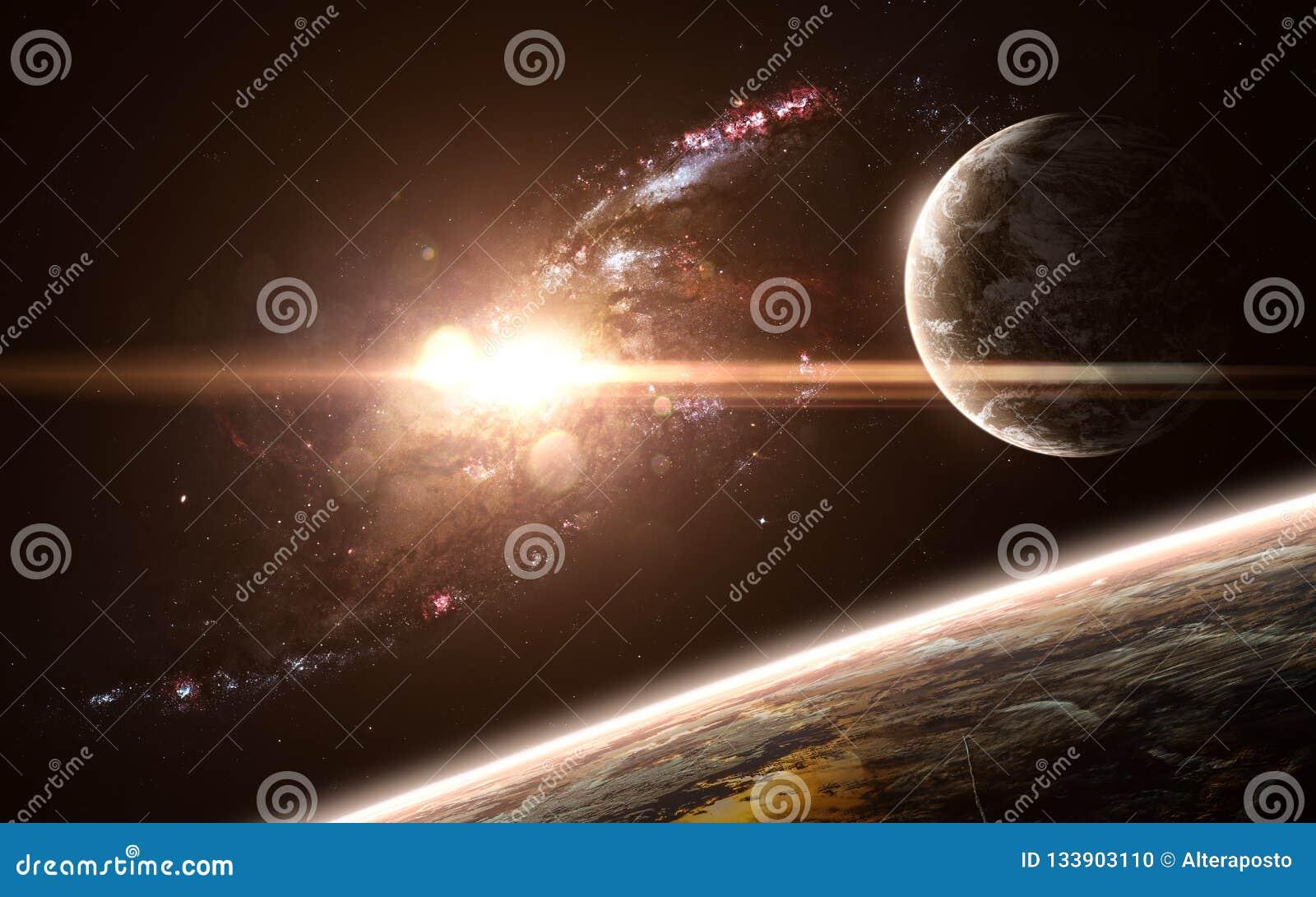 Planeten, Galaxie, schöne Raumlandschaft Abstrakte Zukunftsromane Elemente des Bildes wurden von der NASA geliefert
