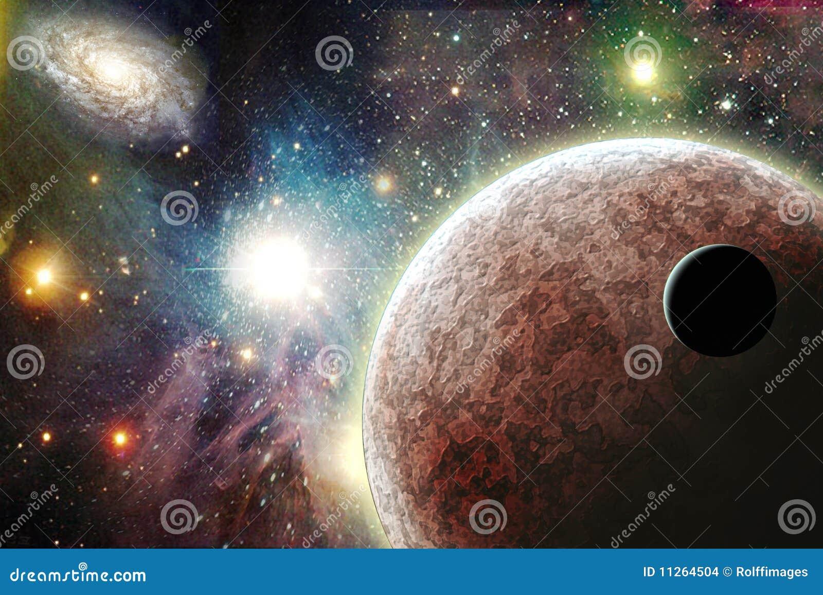 Planeten im Platz