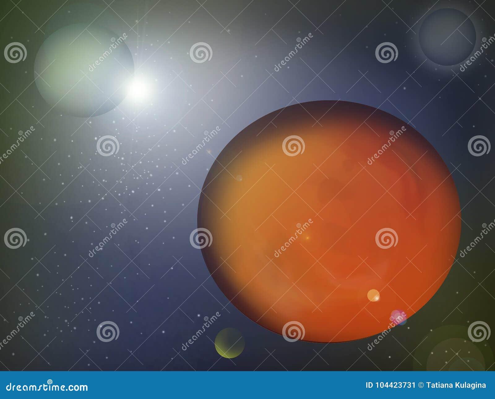 Planeten in kosmische ruimte