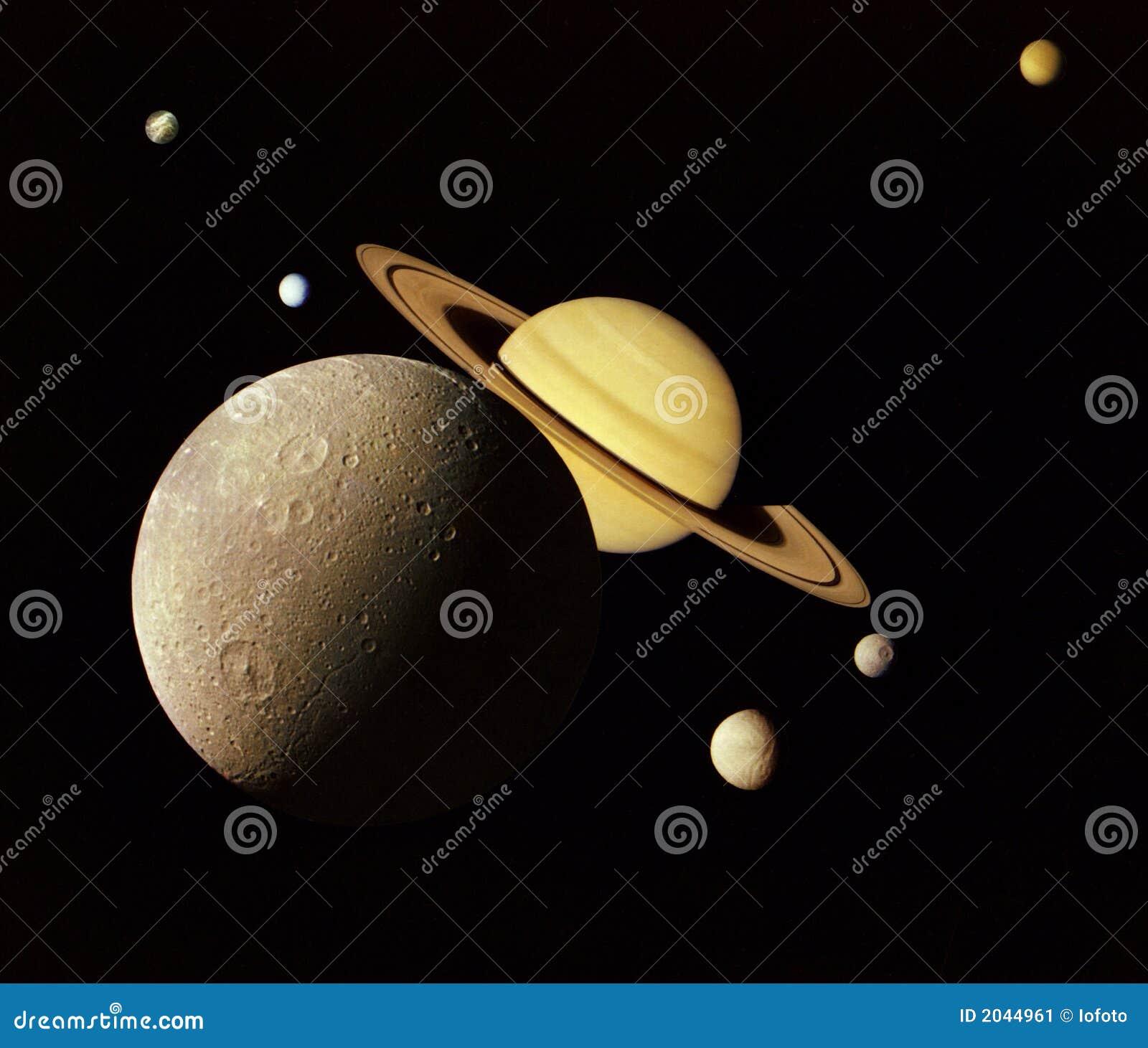 Planeten in kosmische ruimte.