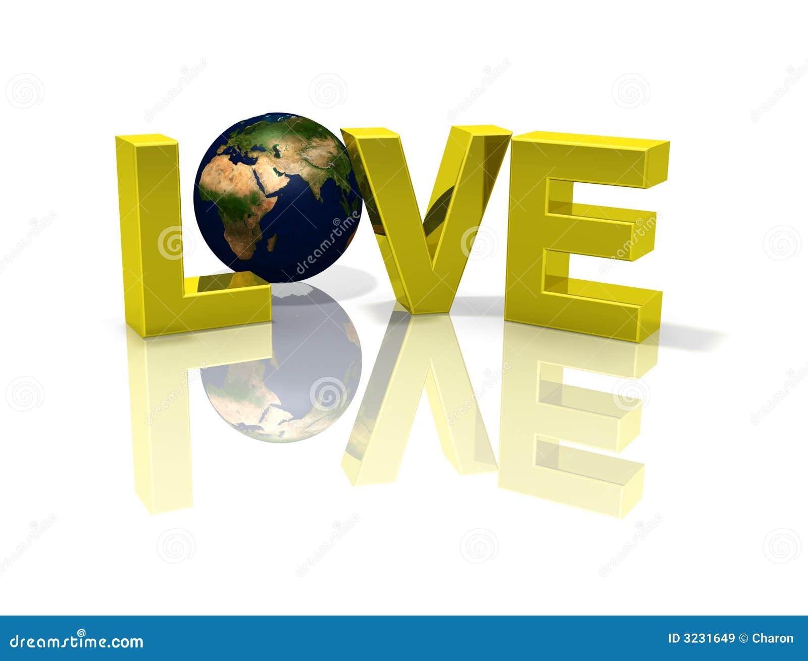 Planeten-Kugel Erde der Liebe 3D
