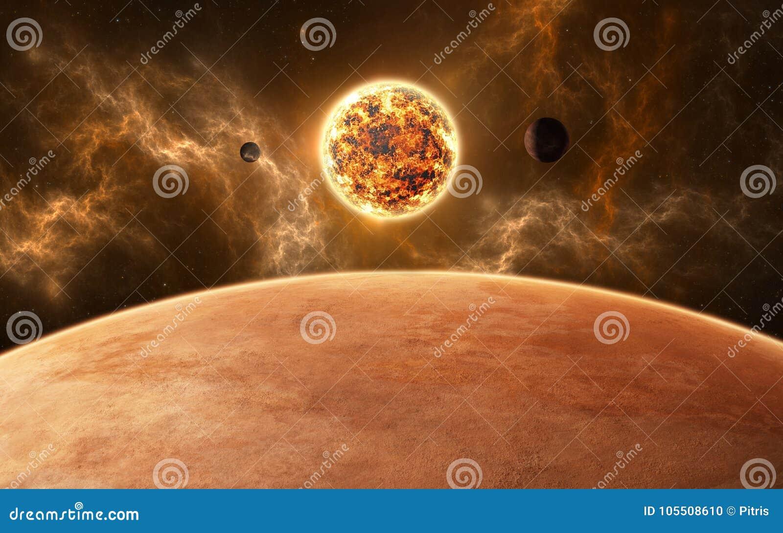 Planeten rond rode dwergster Nieuw planetarisch systeem